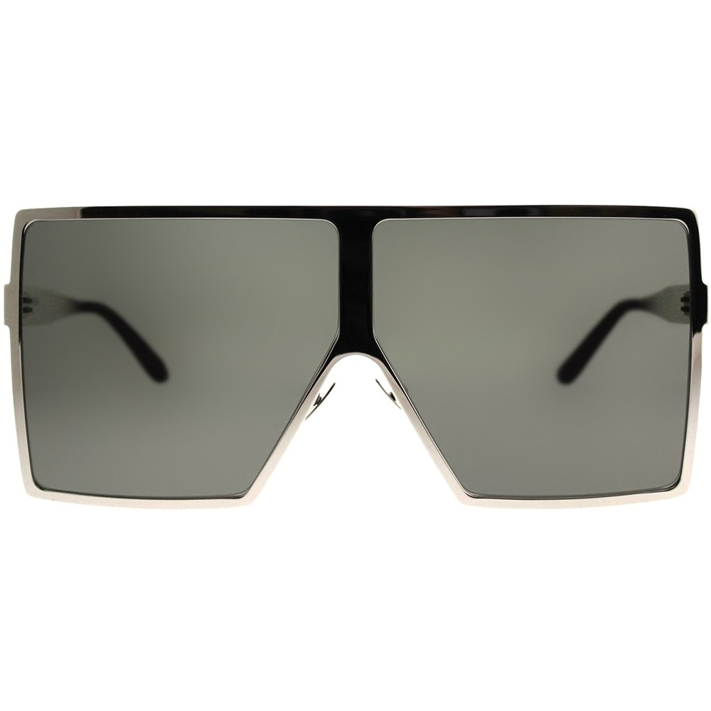 a210b4077c Shop Saint Laurent Square SL 182 Betty 006 Unisex Silver Frame Grey Lens  Sunglasses - Free Shipping Today - Overstock - 21212333