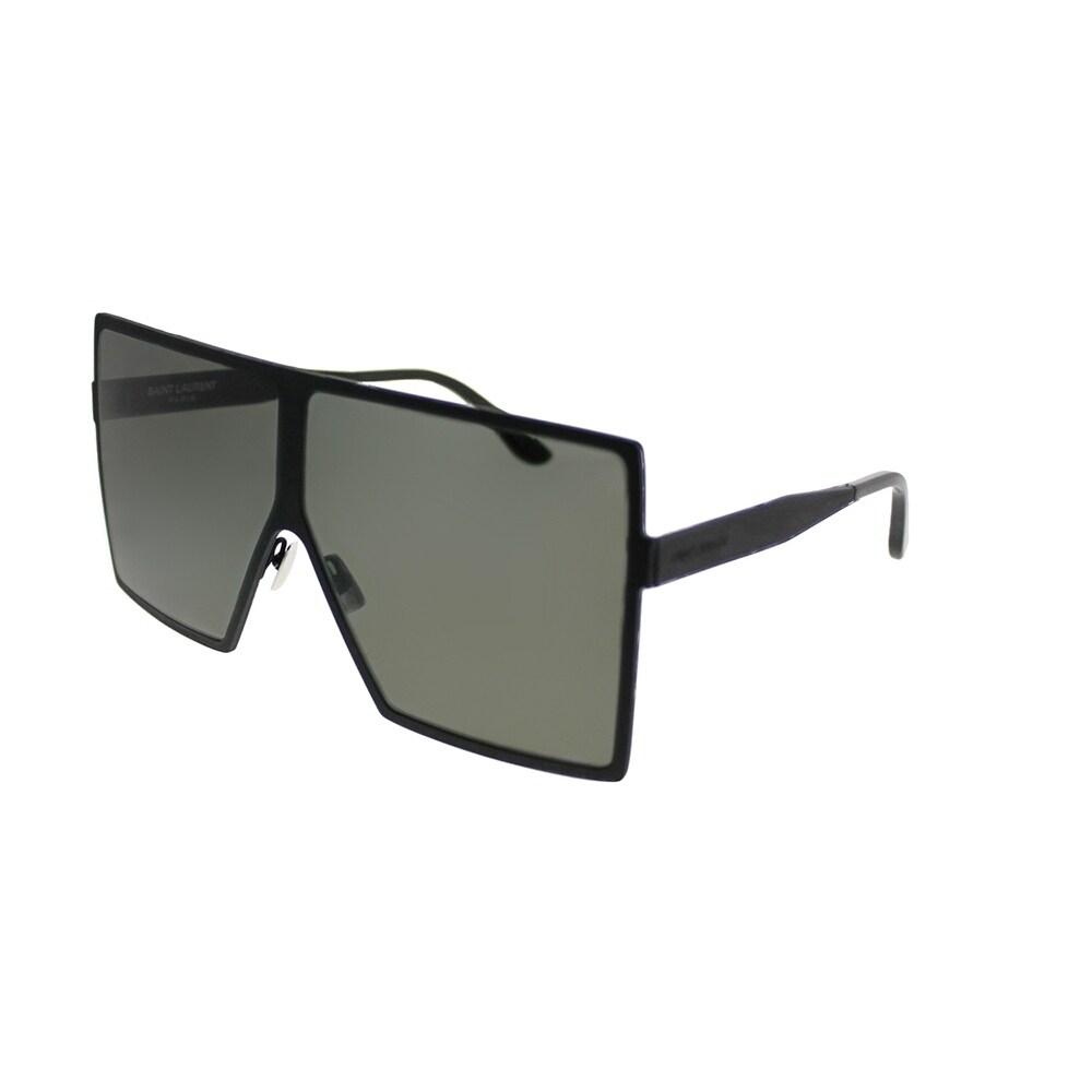 ec8cae38e03 Shop Saint Laurent Square SL 182 Betty 005 Unisex Black Frame Grey Lens  Sunglasses - Ships To Canada - Overstock.ca - 21212334