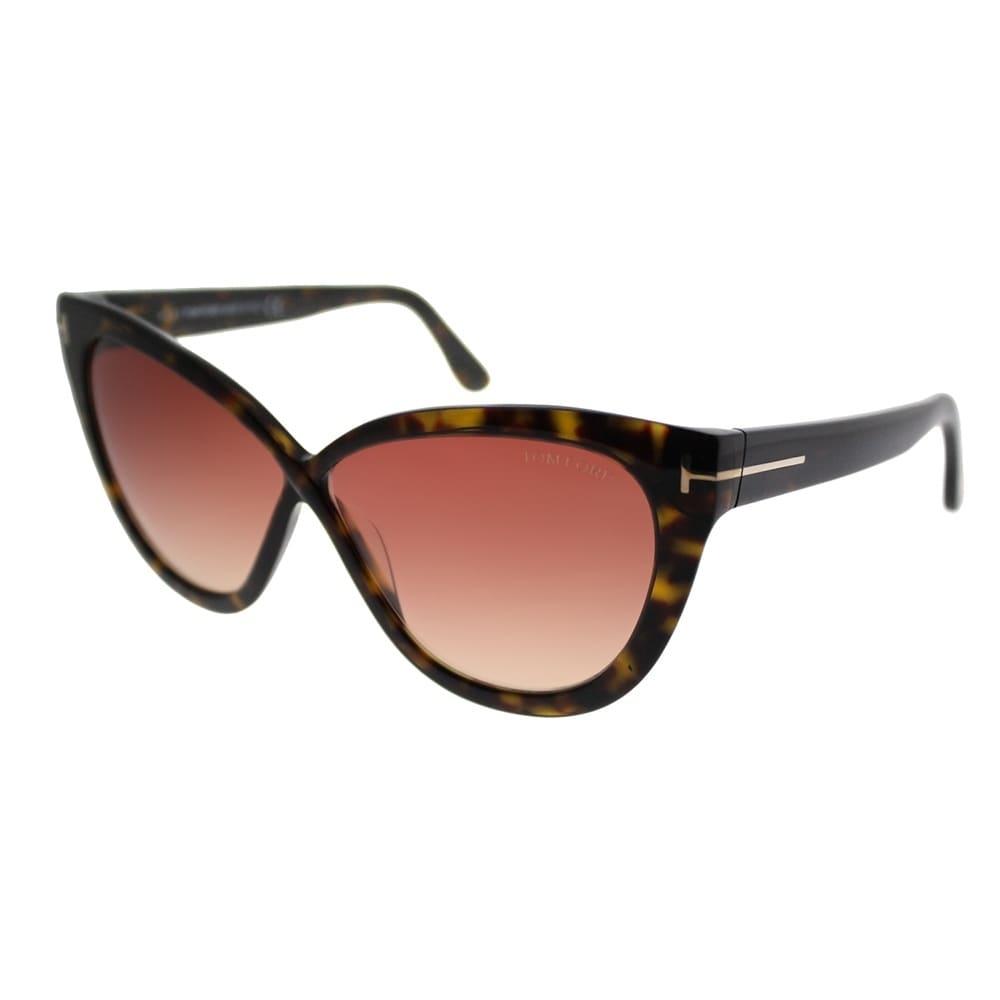 48311f9faf9 Tom Ford Cat-Eye TF 511 Arabella 52B Women Dark Havana Frame Brown Gradient  Lens Sunglasses
