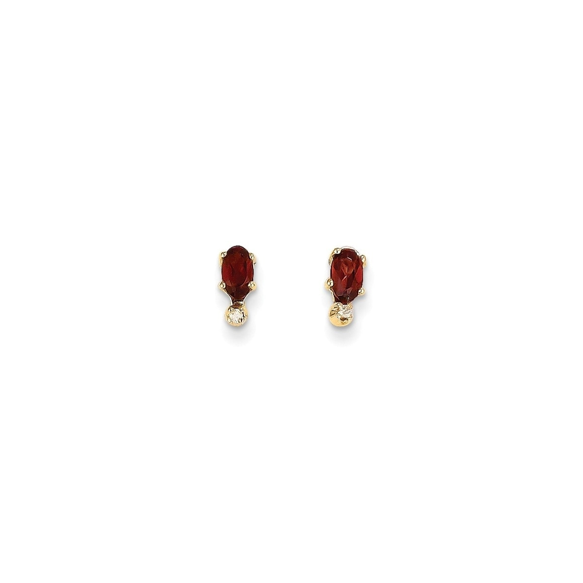 14 Karat Diamond Garnet Birthstone Earrings On Free Shipping Today 21213846