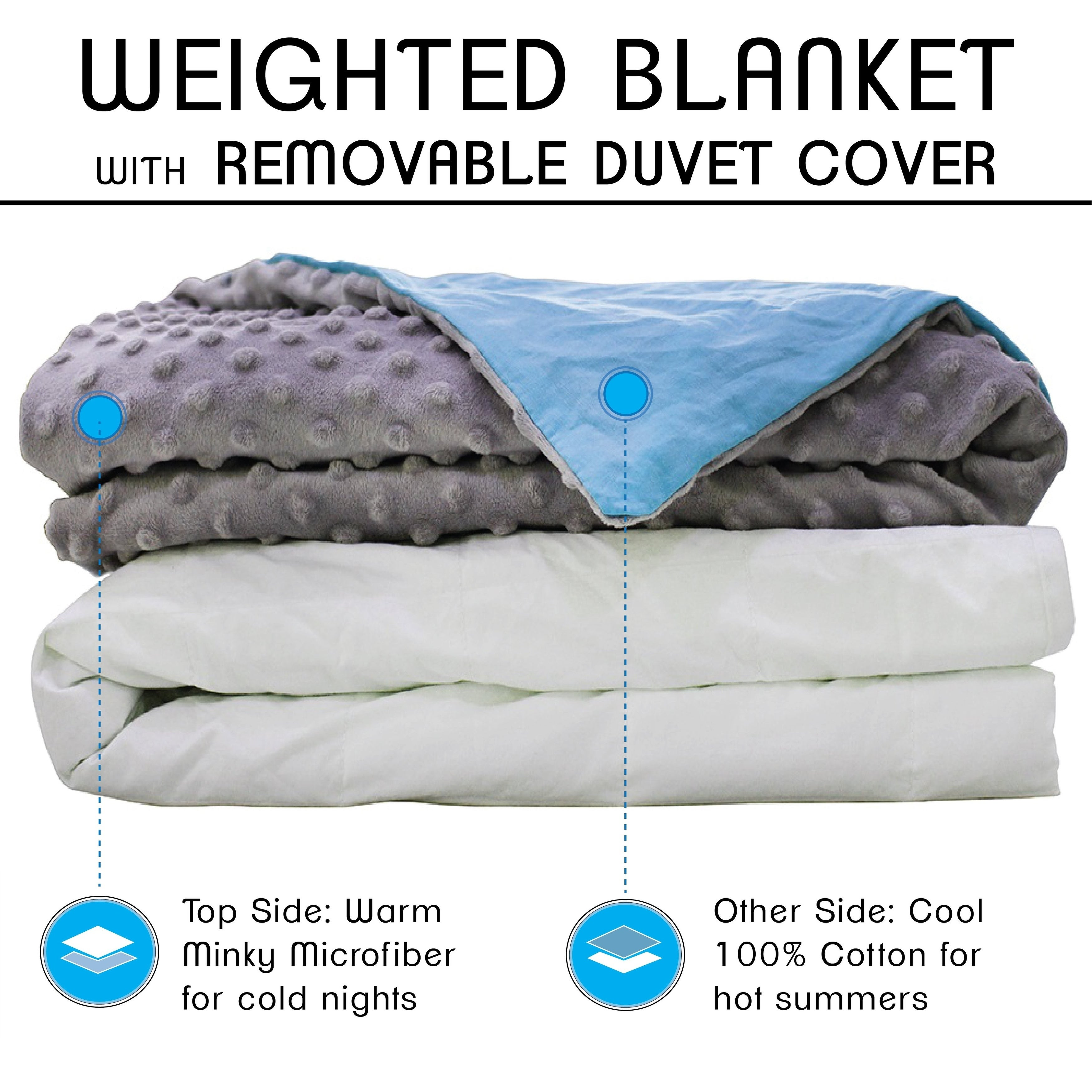 Shop Cmfrt Adult Weighted Blanket With Duvet Cover 25 Lbs Free