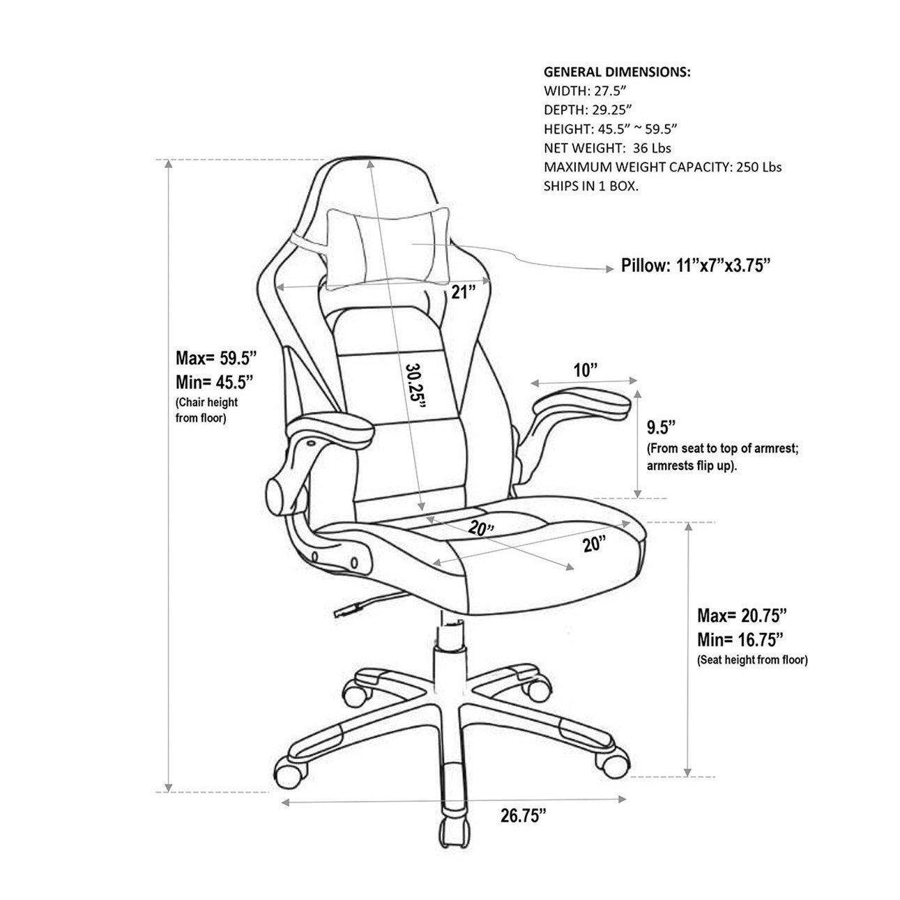 Shop Modern Design Rolling Height Adjustable Office Chair With Detachable  Headrest Pillow   Free Shipping Today   Overstock.com   21219908