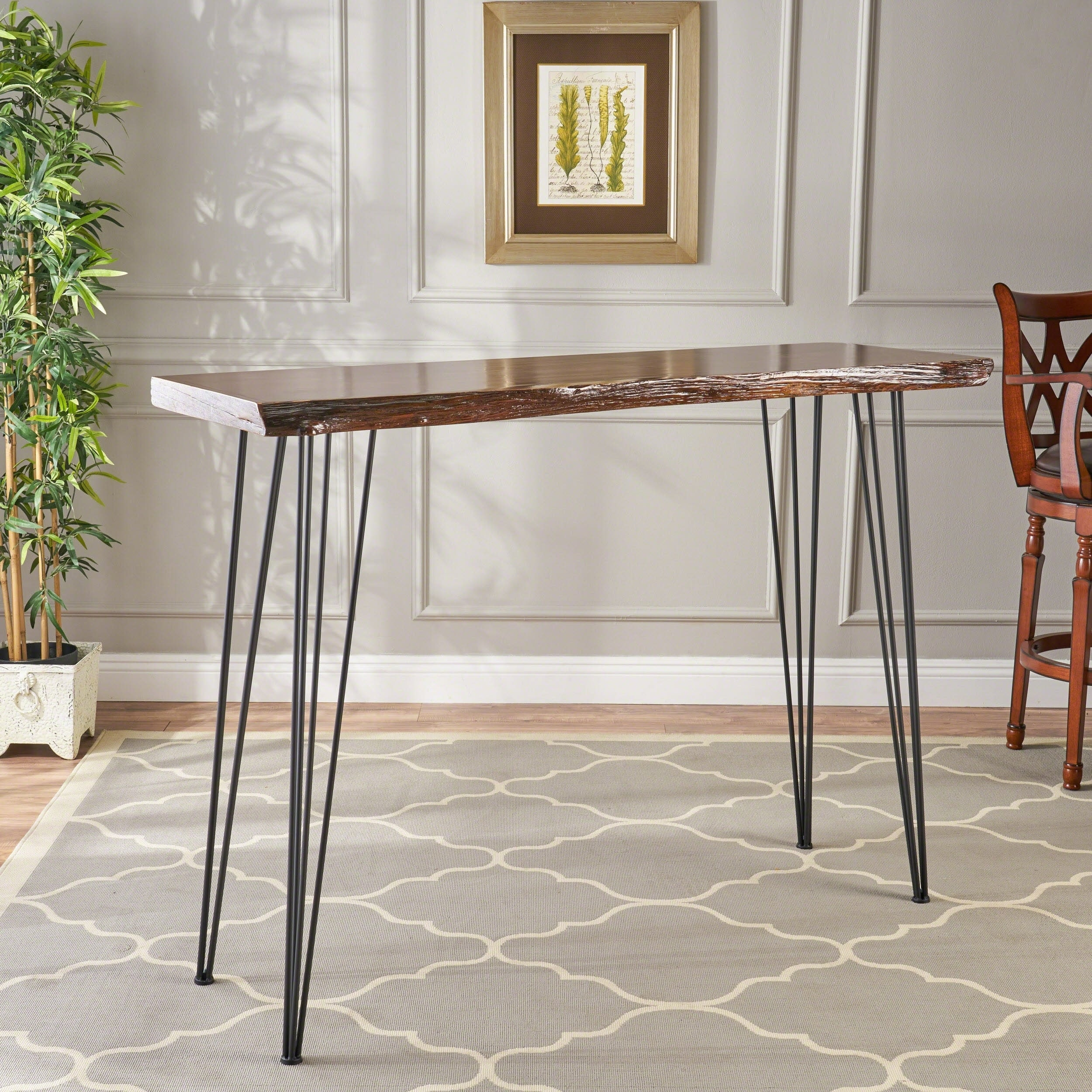 Chana Faux Live Edge Bar Table By Christopher Knight Home On Free Shipping Today 21220070