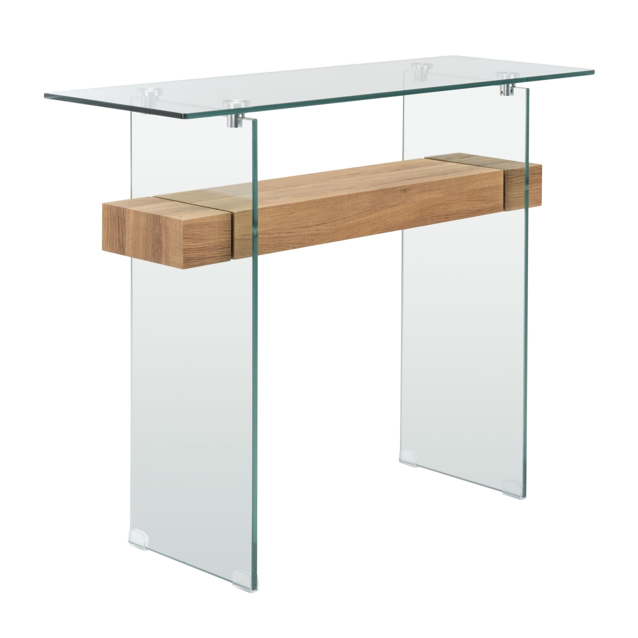 Shop Safavieh Kayley Natural Glass Console Table On Sale