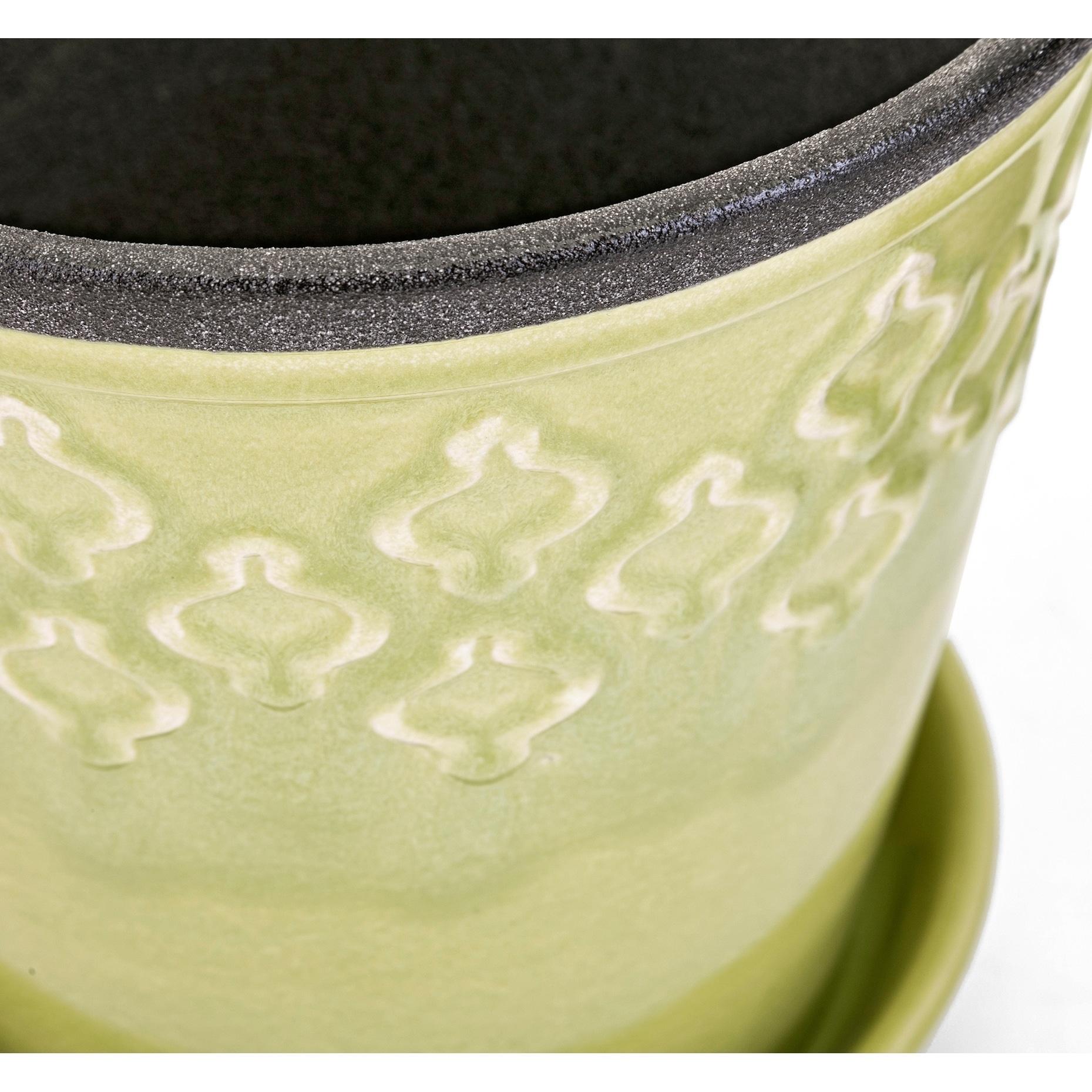 Shop Emma Multi Color Ceramic Flower Pots Set Of 3 On Sale
