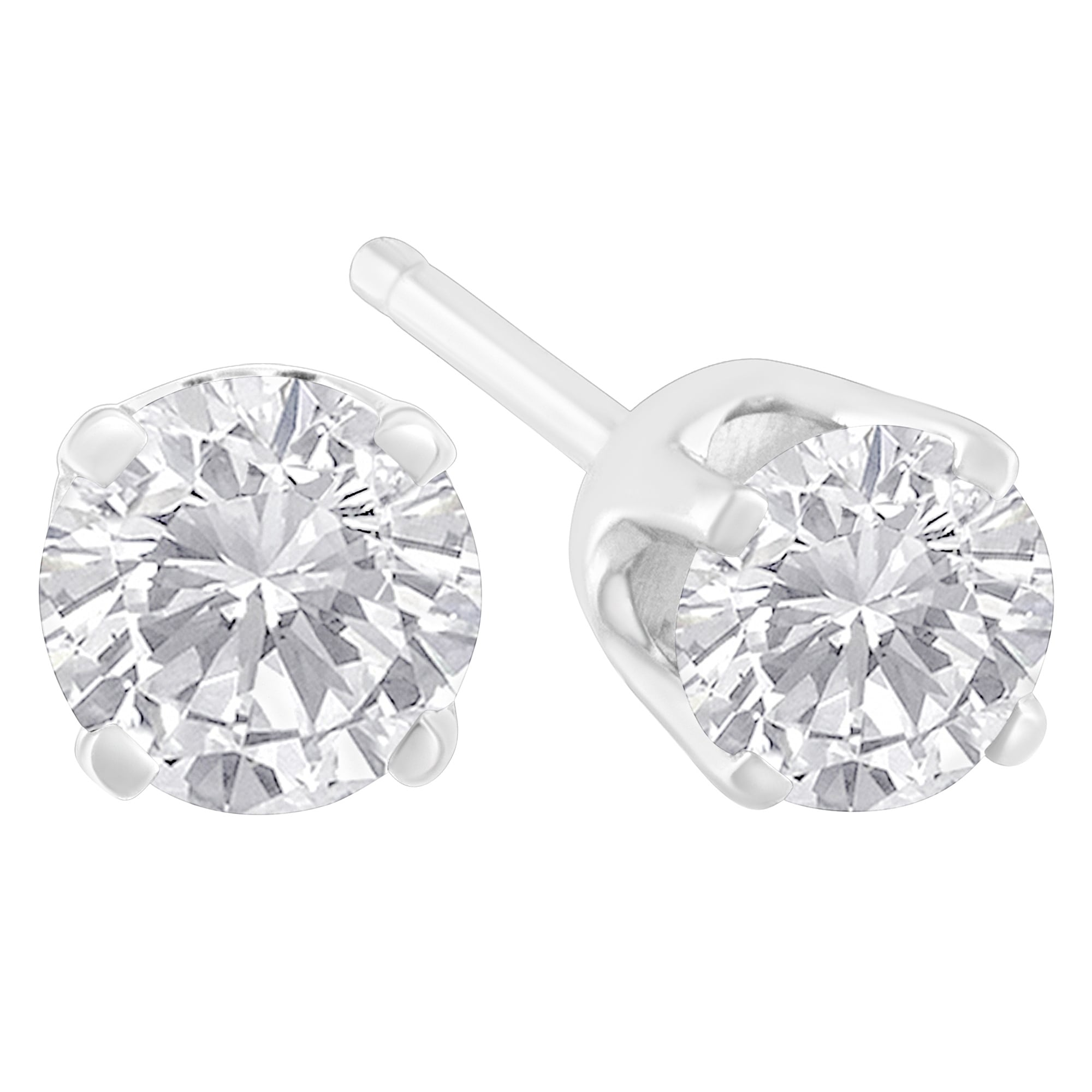 w solitaire white gold pin brilliant carat earrings lab created t forever moissanite