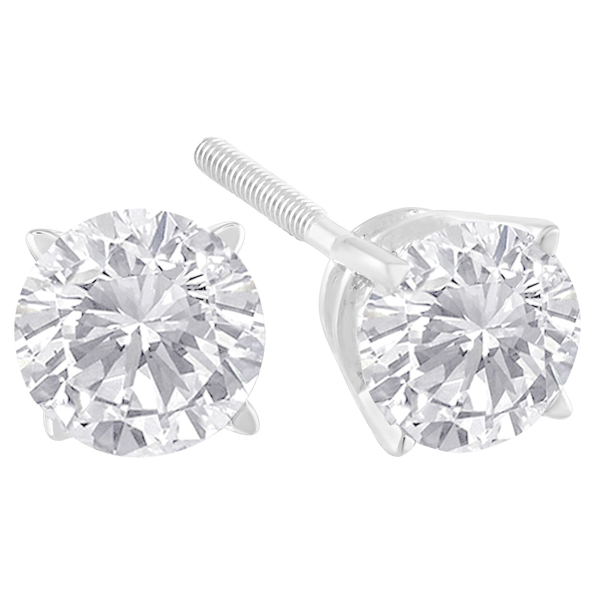 earrings white studs solitaire of w carat miabella t diamond gold beautiful stud