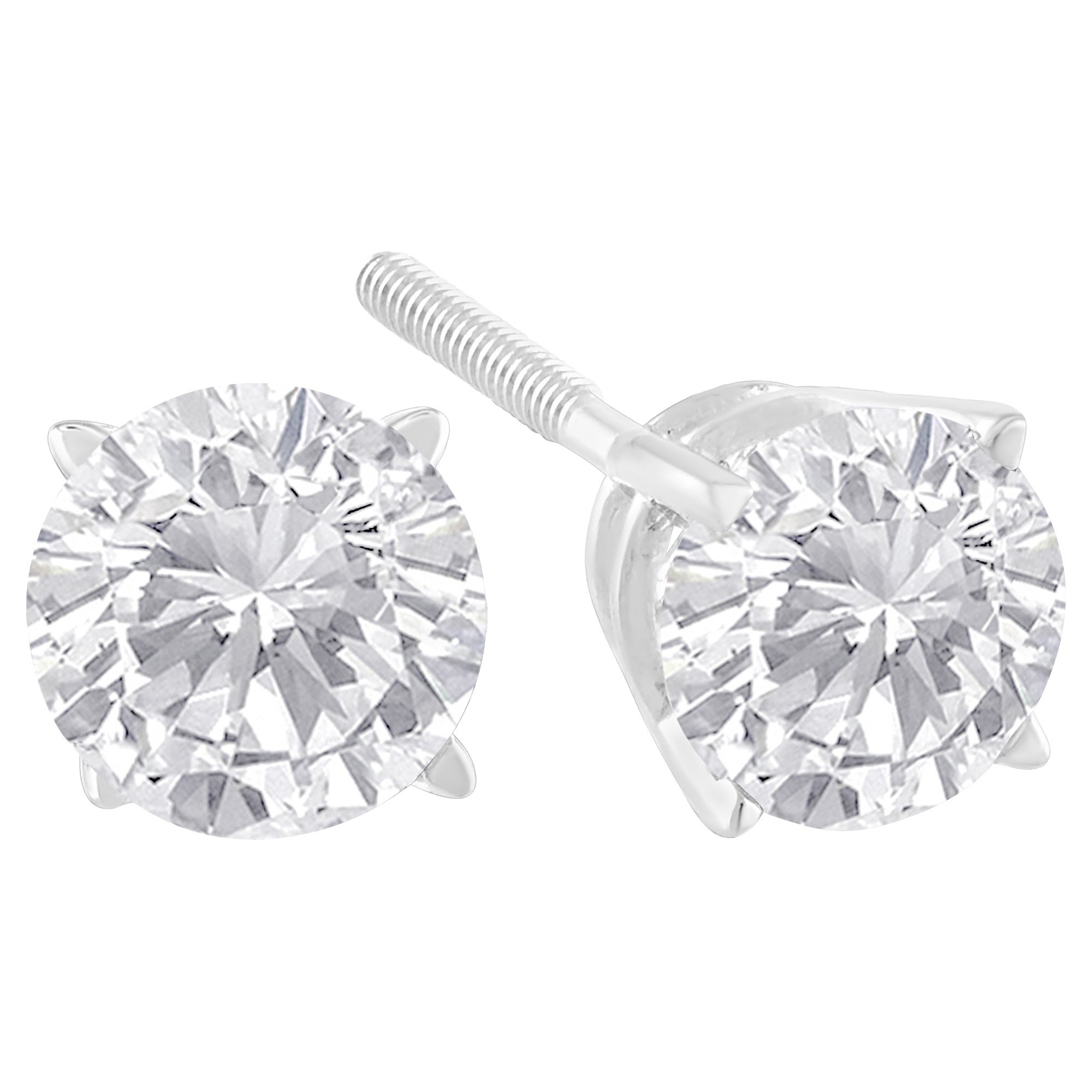 solitaire shaped twt diamond prong in g d heart certified platinum set f stone earring three ct earrings