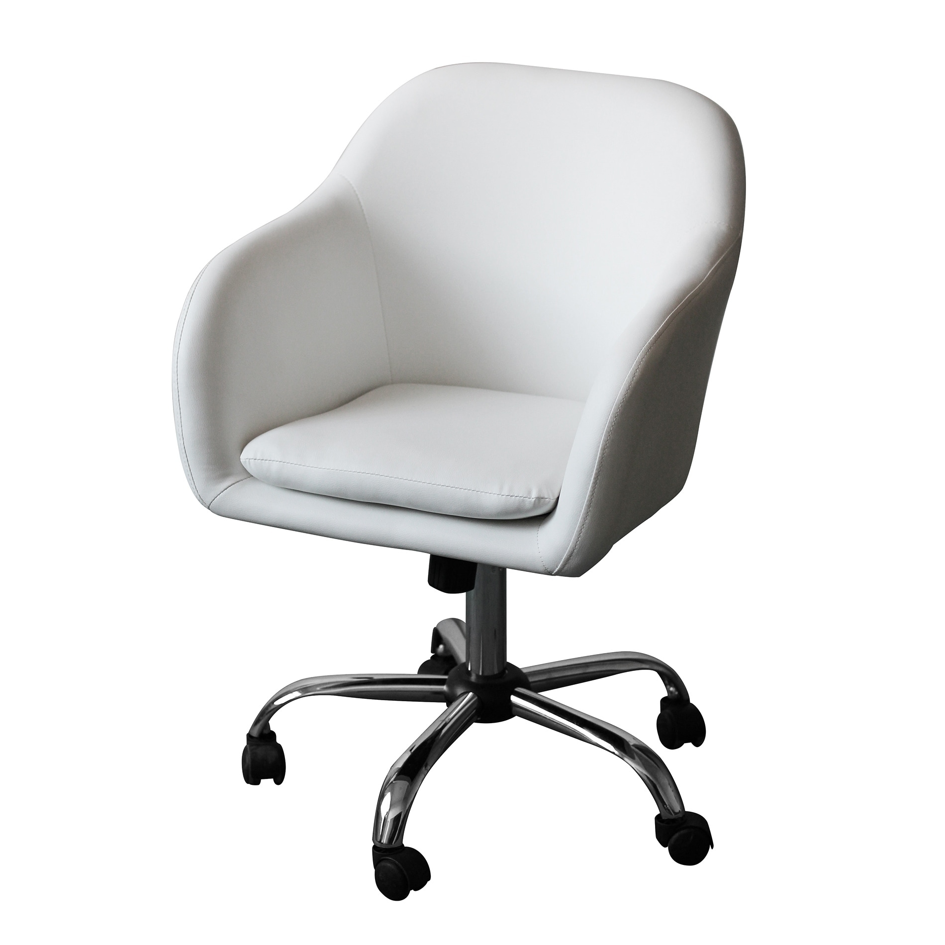 Shop home office chair executive mid back computer table desk chair swivel height adjustable ergonomic with armrest white on sale free shipping today