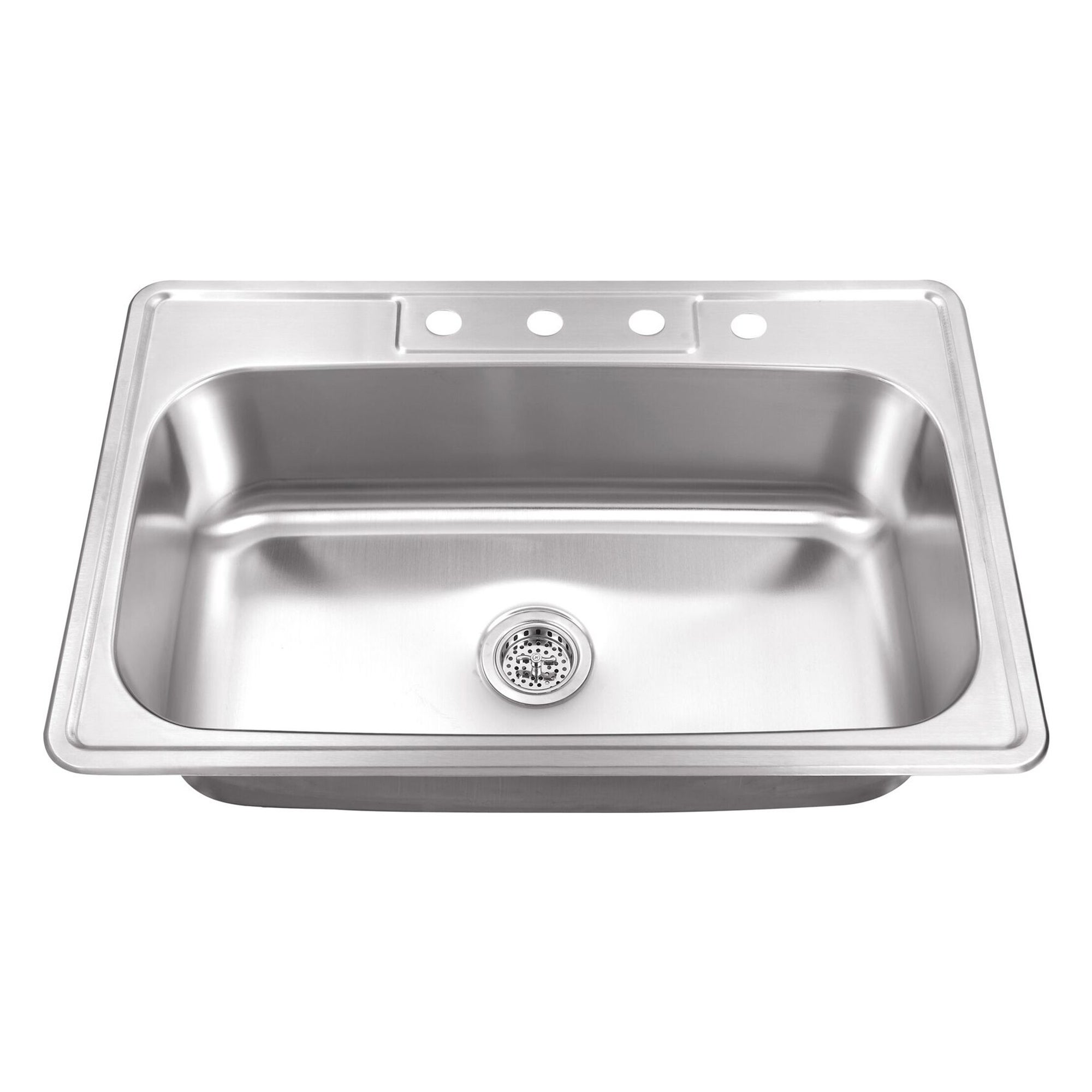 Shop Drop In 33 In Single Bowl Stainless Steel Utility Sink Free