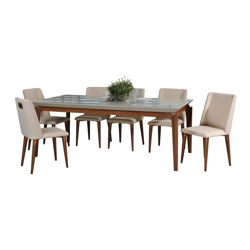 shop 7 piece payson 82 67 in table tampa dining set with 6 dining rh overstock com dining room tables costco dining room tables cheap