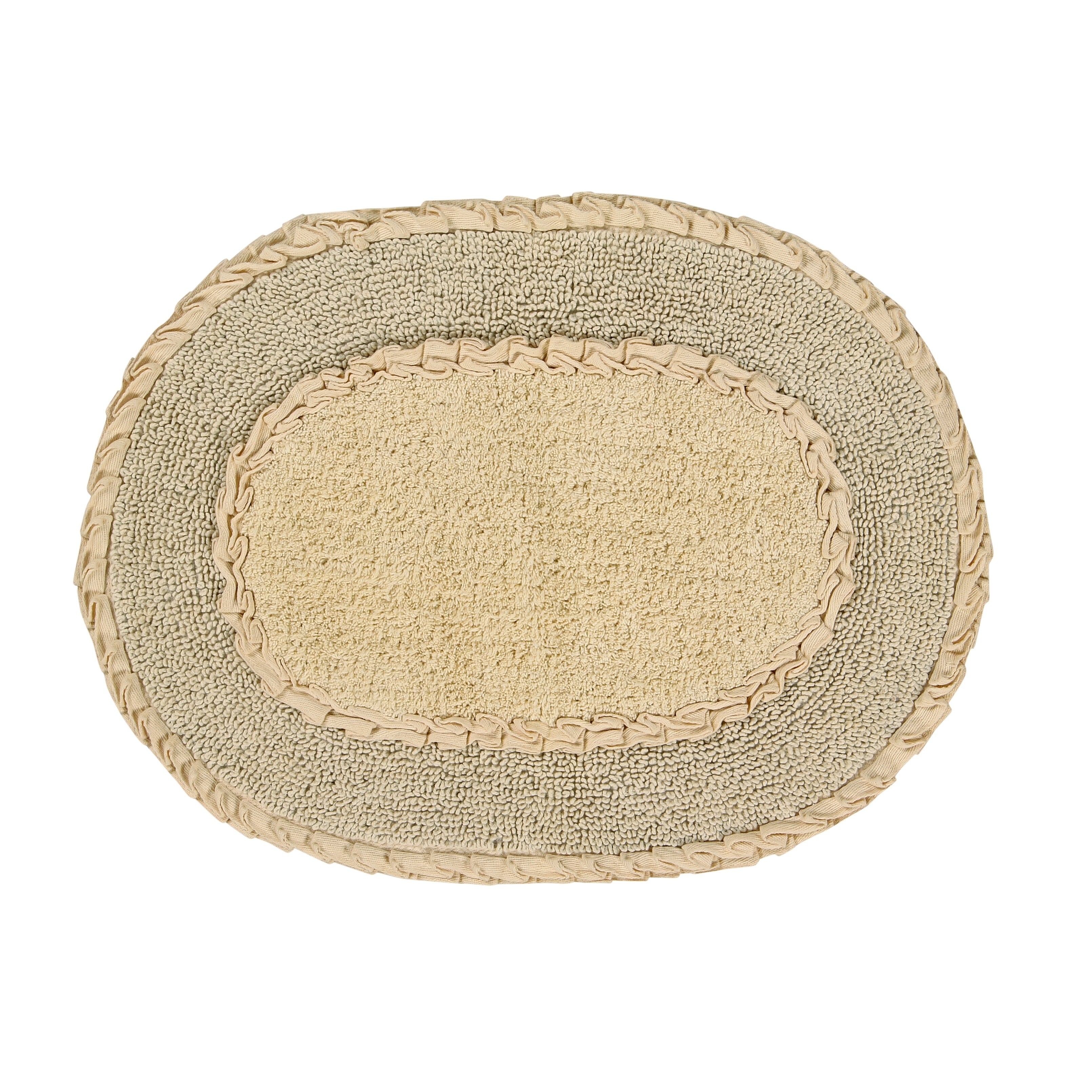 Bathroom Rugs That Absorb Water.Shop Double Ruffle 17 X24 Butter Bath Rug Free Shipping On Orders
