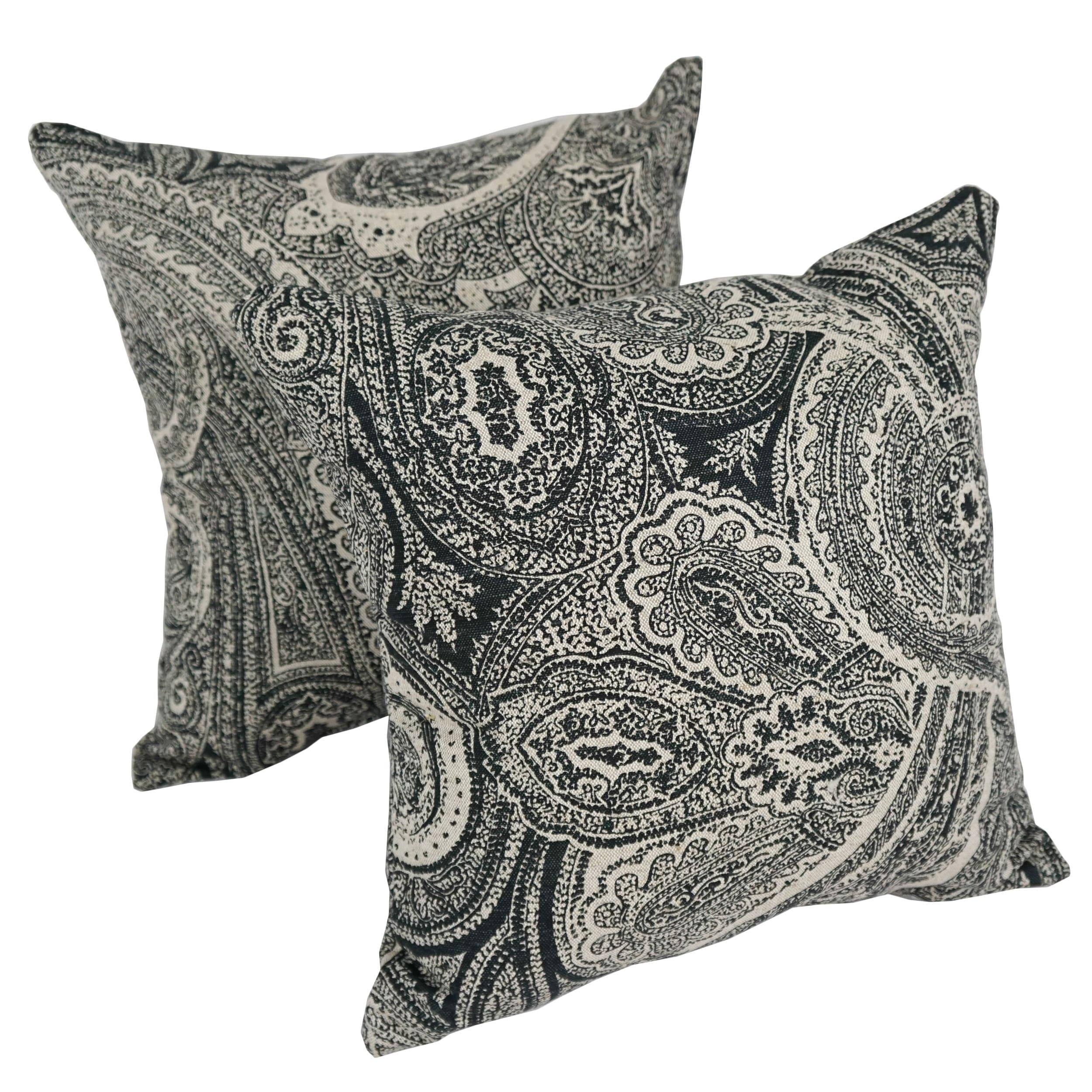 Paisley Dream 17 Inch Indoor Outdoor Throw Pillow Set Of 2 Free