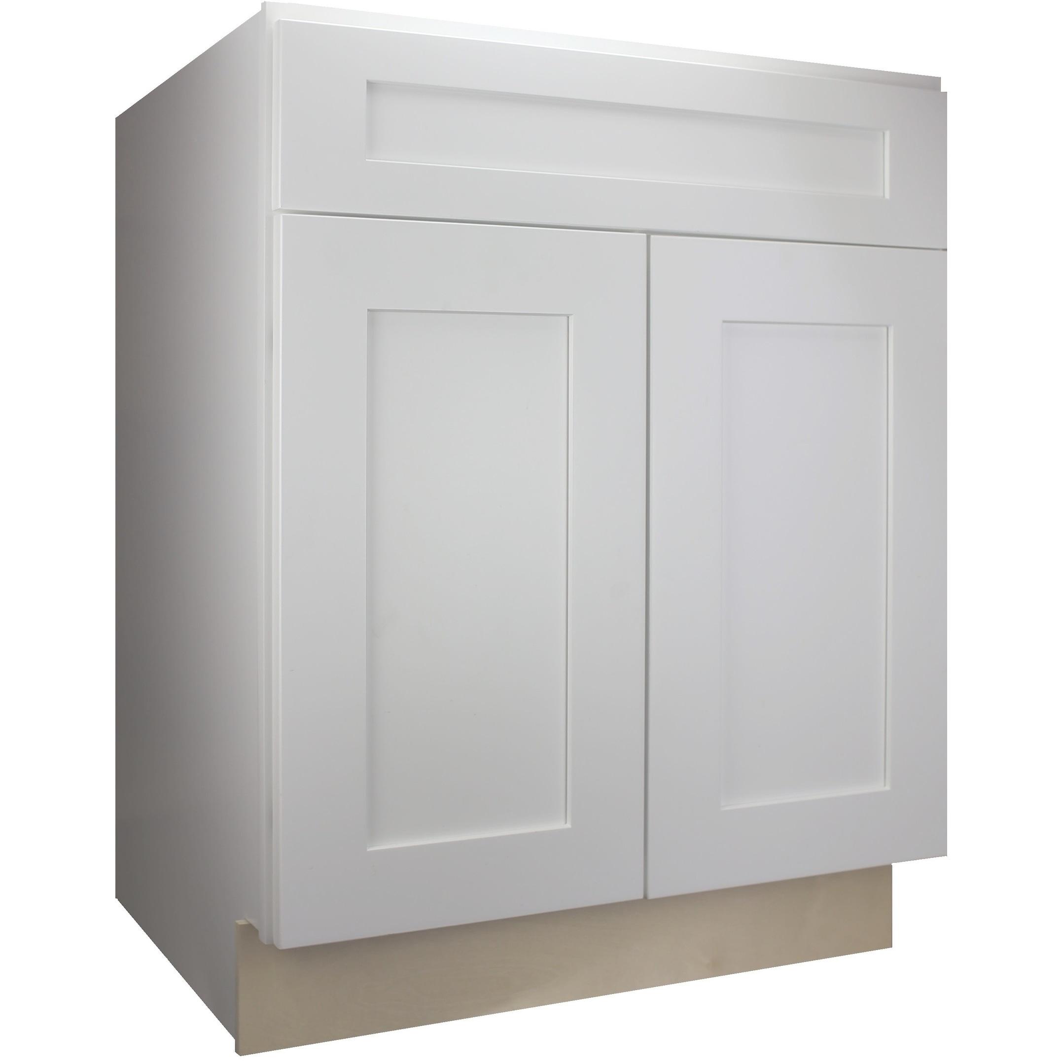 Cabinet Mania White Shaker Kitchen Cabinet Base 30 W X 34 5 H X 24 D