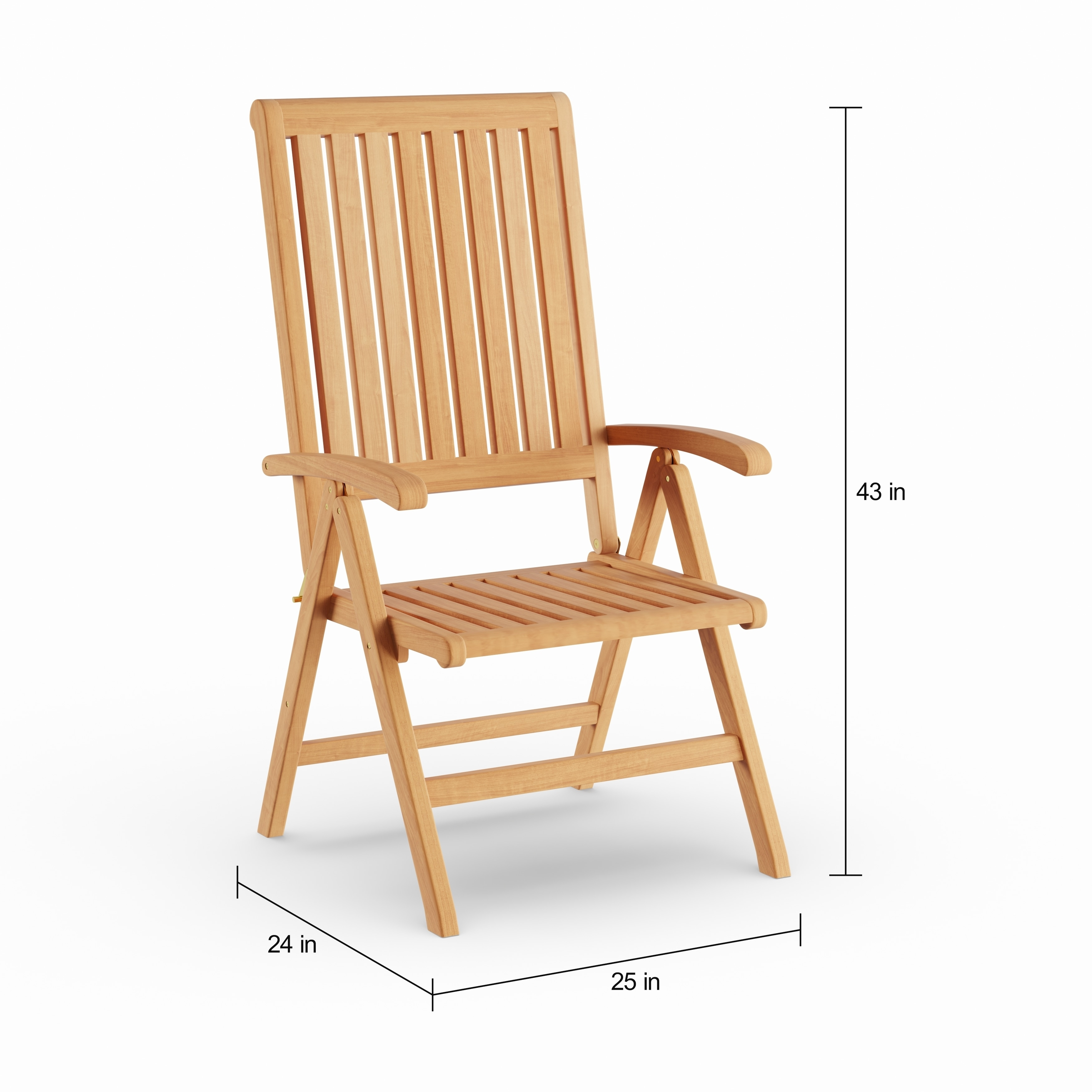 Shop havenside home goodwin natural finish teak outdoor chair on sale free shipping today overstock com 21258503