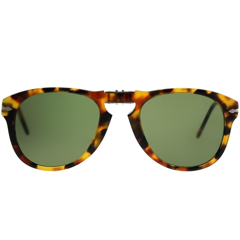 e3644d1941d1c Shop Persol Aviator PO 714 714 Series 10524E Unisex Madreterra Frame Green Lens  Sunglasses - Free Shipping Today - Overstock - 21268341
