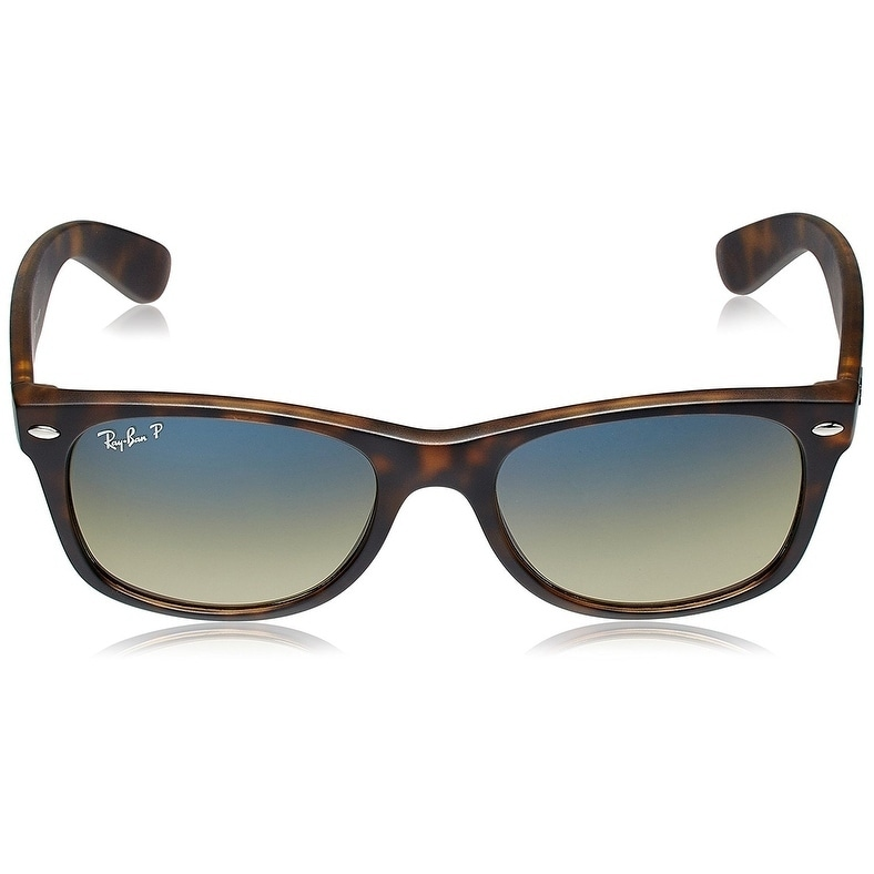6699a4aa7cd Shop Ray-Ban RB2132 New Wayfarer Matte Tortoise Frame Polarized Blue Green  Gradient 55mm Lens Sunglasses - Free Shipping Today - Overstock - 21275174