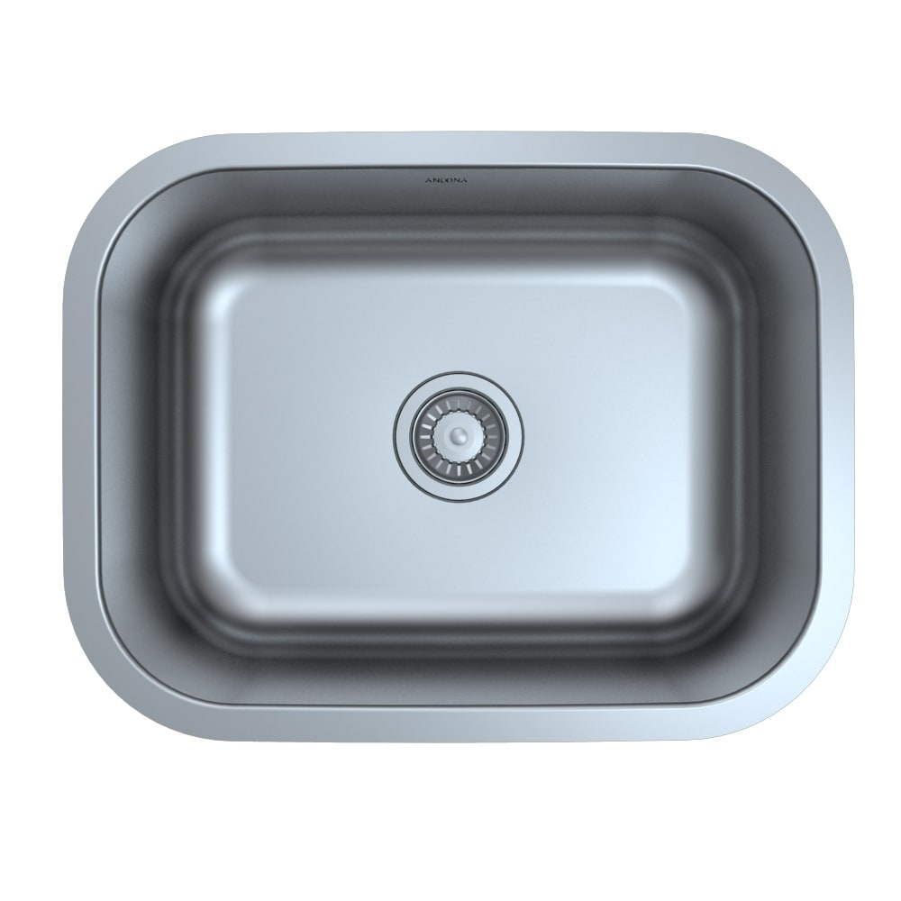 Shop Ancona Under Mount Single 31 in. Sink with Toledo Faucet Combo ...