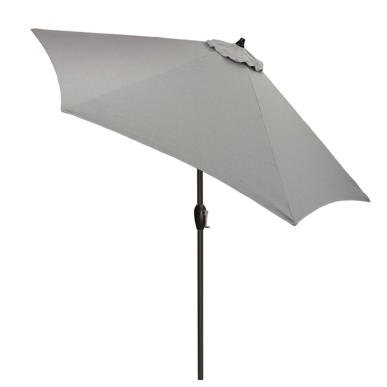 shop 9 round patio umbrella with black pole free shipping today overstockcom 21291689 - Black Patio Umbrella