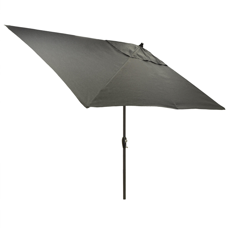 Shop 6.5x10u0027 Rectangular Patio Umbrella With Black Pole   Free Shipping  Today   Overstock.com   21291690