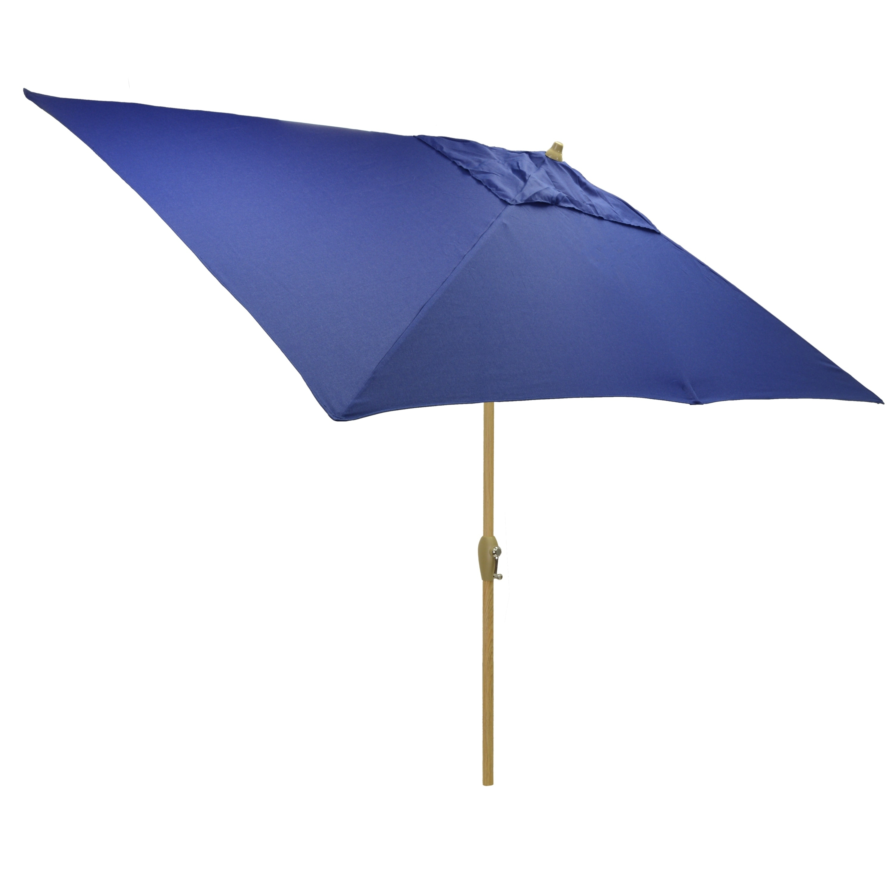 Delightful Shop 6.5x10u0027 Rectangular Patio Umbrella With Light Wood Finish Pole   Free  Shipping Today   Overstock.com   21291694