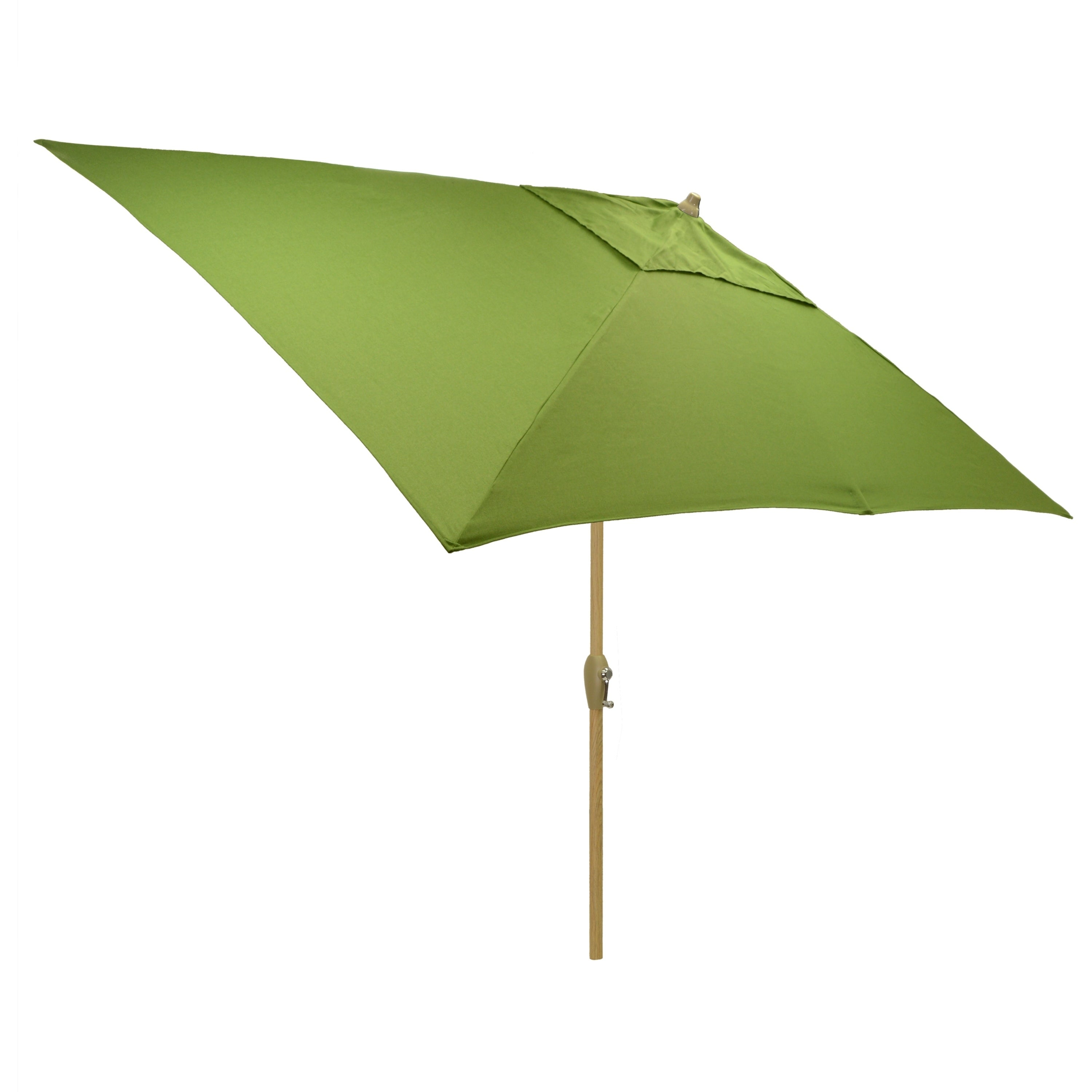 Shop 6.5x10u0027 Rectangular Patio Umbrella With Light Wood Finish Pole   Free  Shipping Today   Overstock.com   21291694