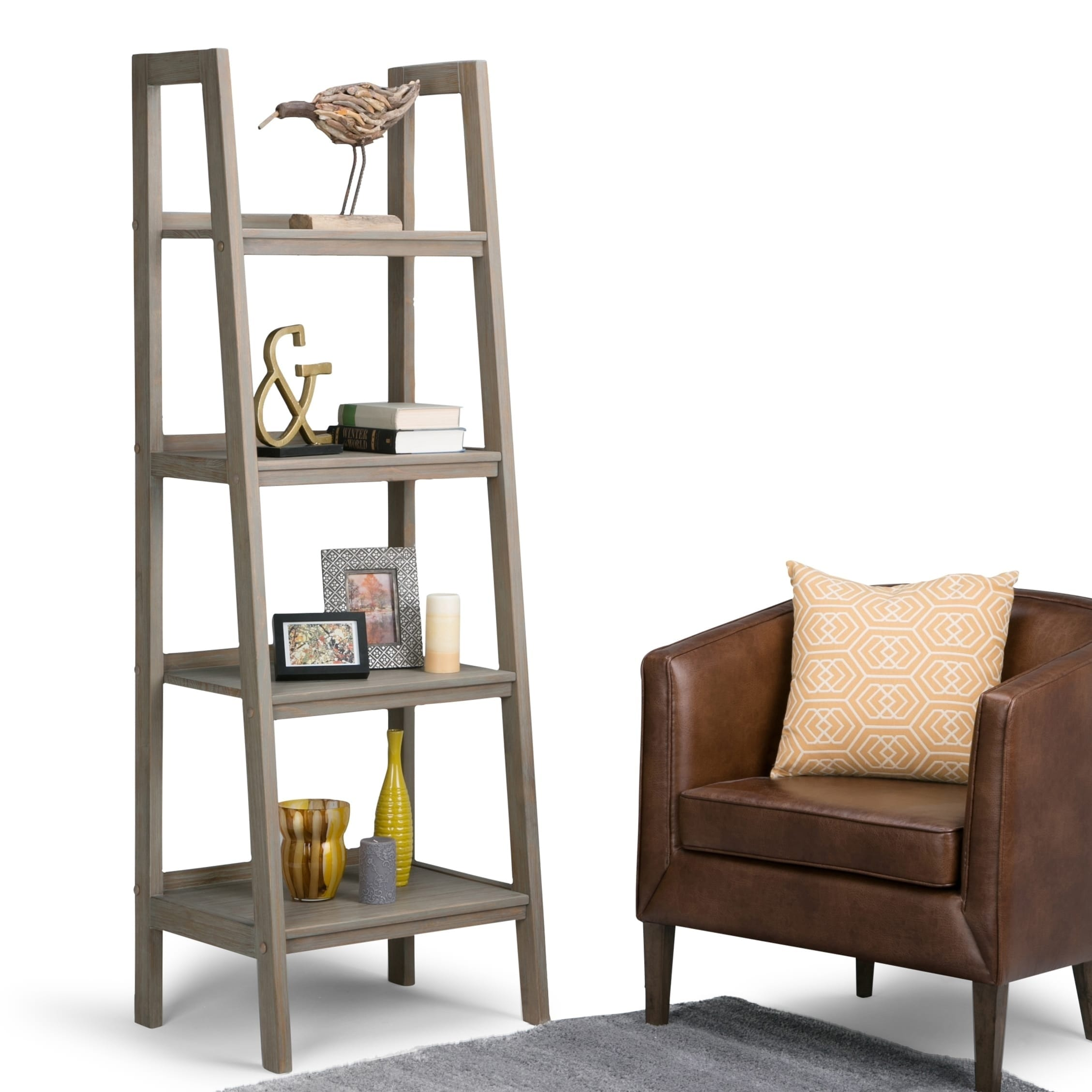 Wall Ladder Shelf