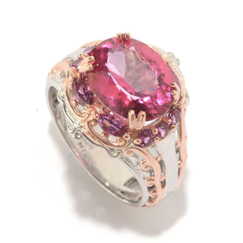 Shop Michael Valitutti Palladium Silver Pink Topaz & Multi Shape ...