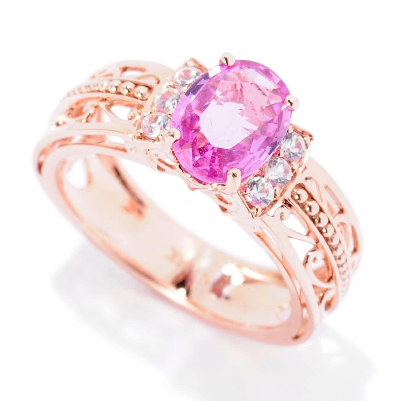 Shop Michael Valitutti 14K Rose Gold Pink Sapphire & White Zircon ...