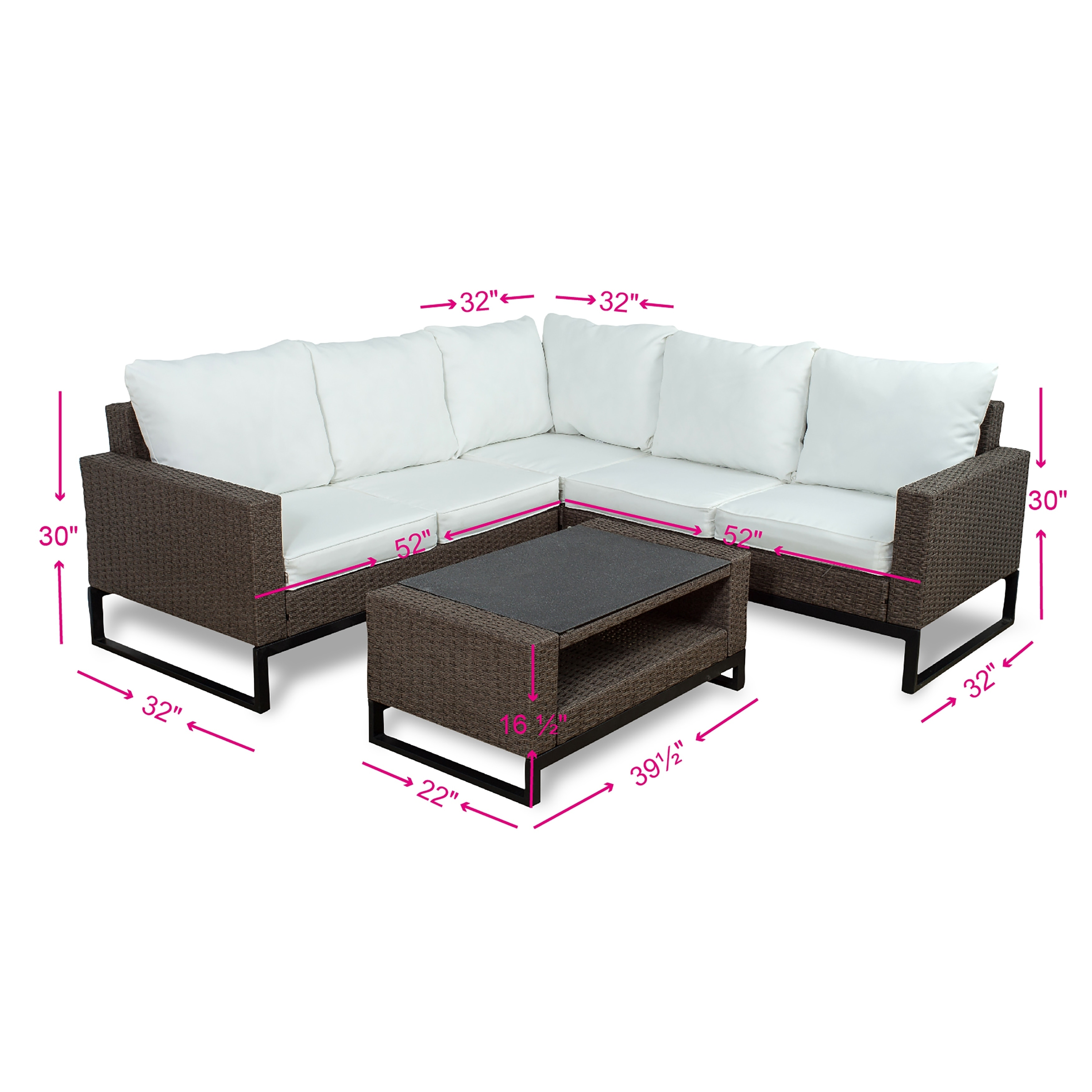 Shop Venice 4 Piece Modern Patio Sectional Set By Westin Outdoor
