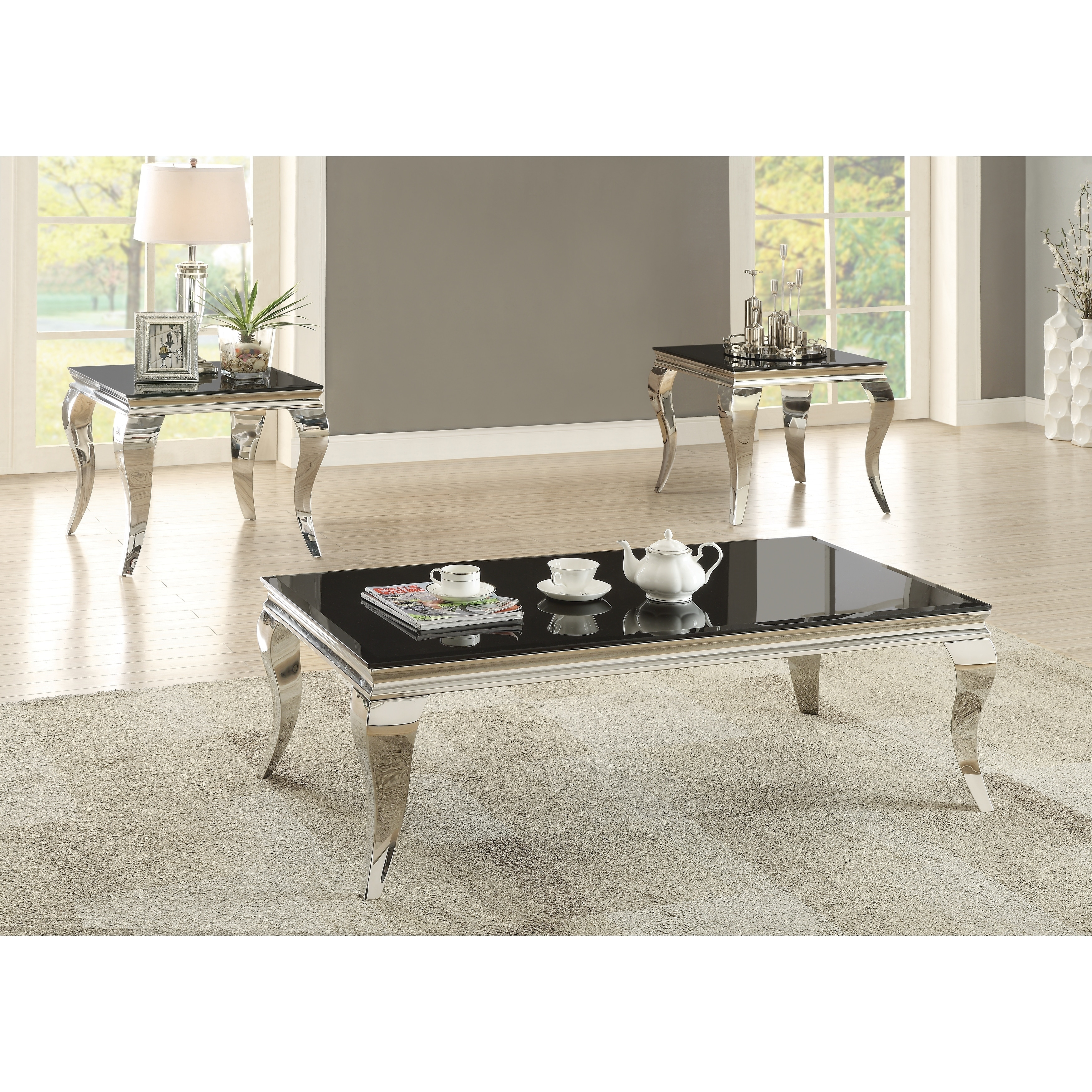 Contemporary Black Coffee Table On Free Shipping Today 21339006