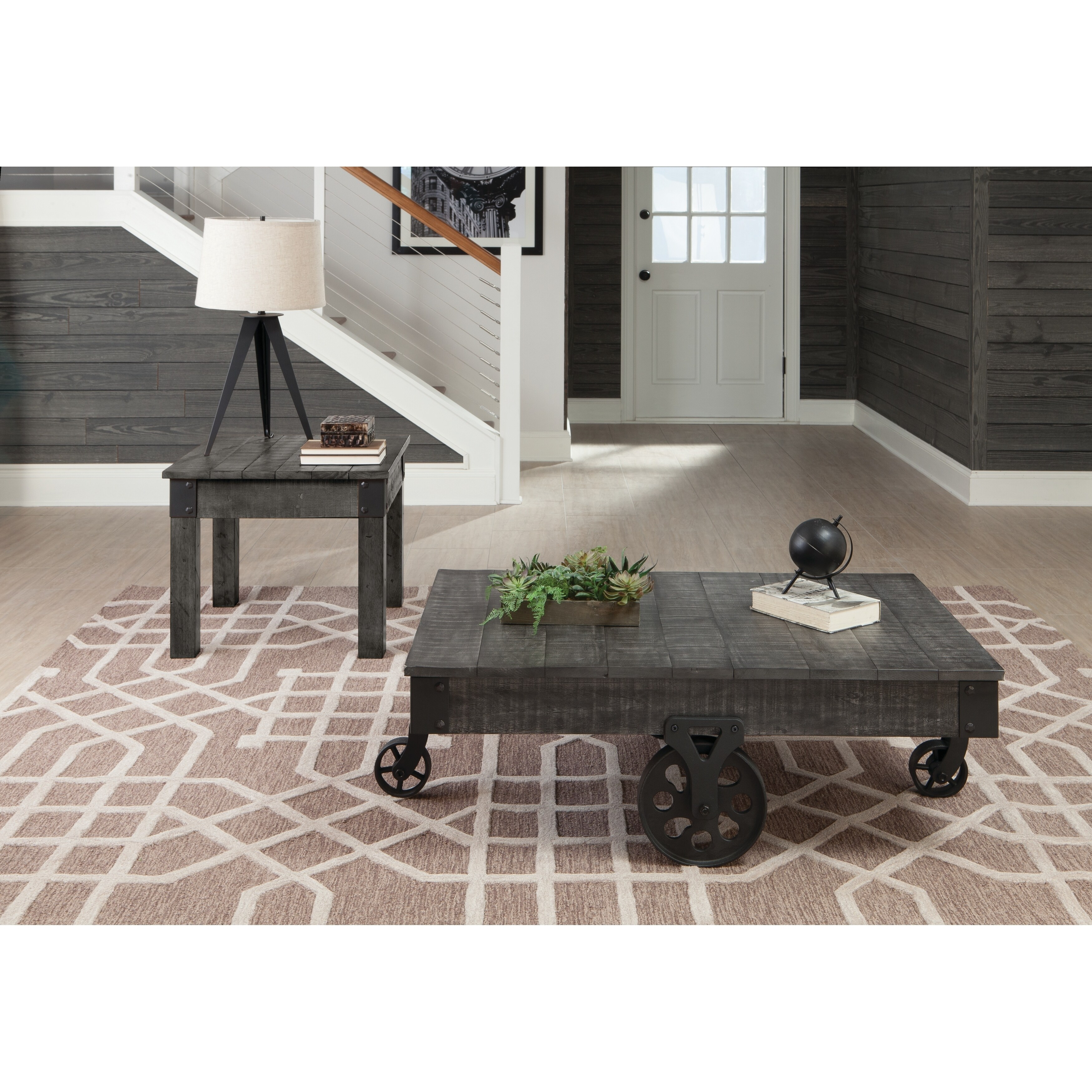 Country Rustic Grey End Table Free Shipping Today 27091942