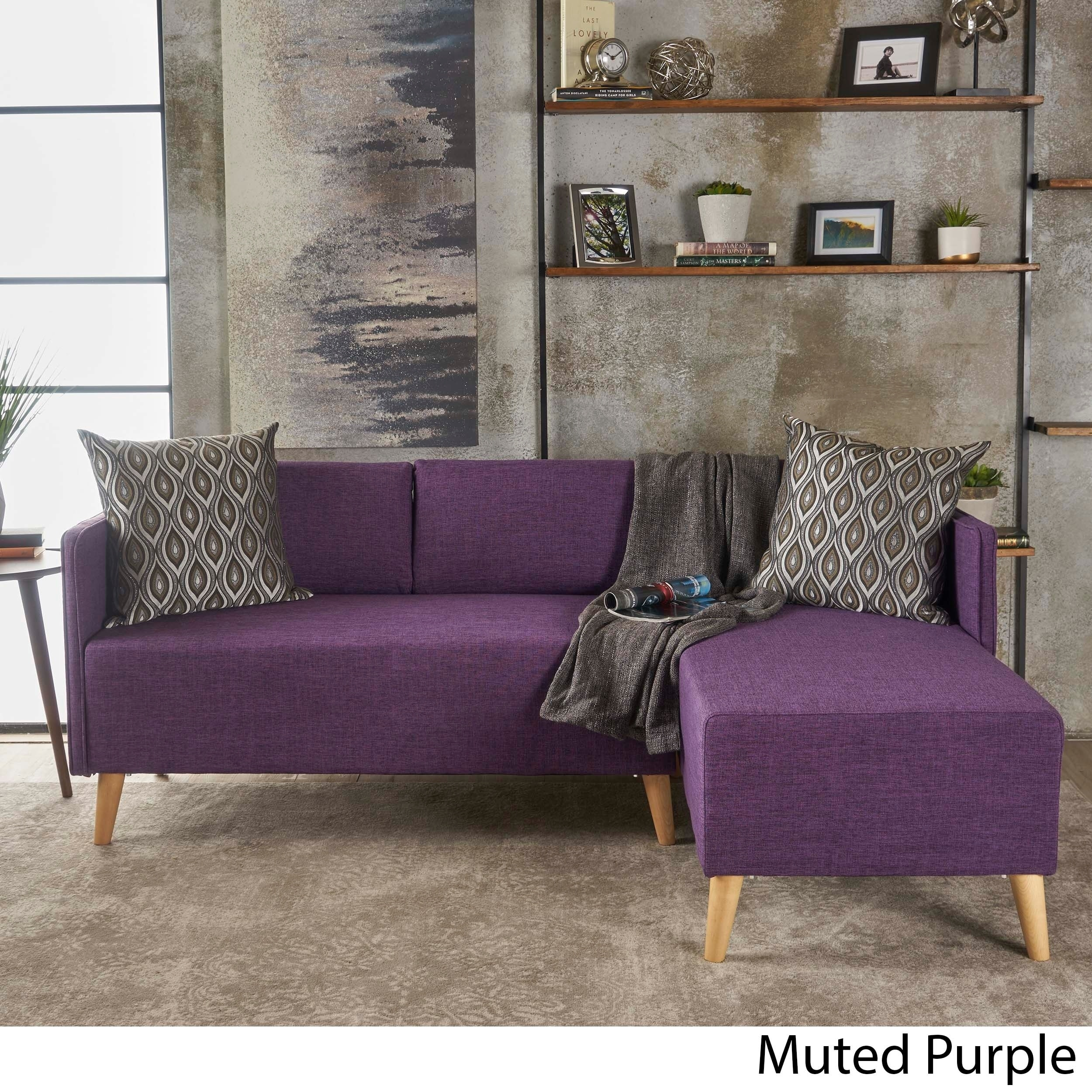 Shop Augustus Modern 2 Piece Chaise Sectional Sofa Set By Christopher  Knight Home   On Sale   Free Shipping Today   Overstock.com   21345624