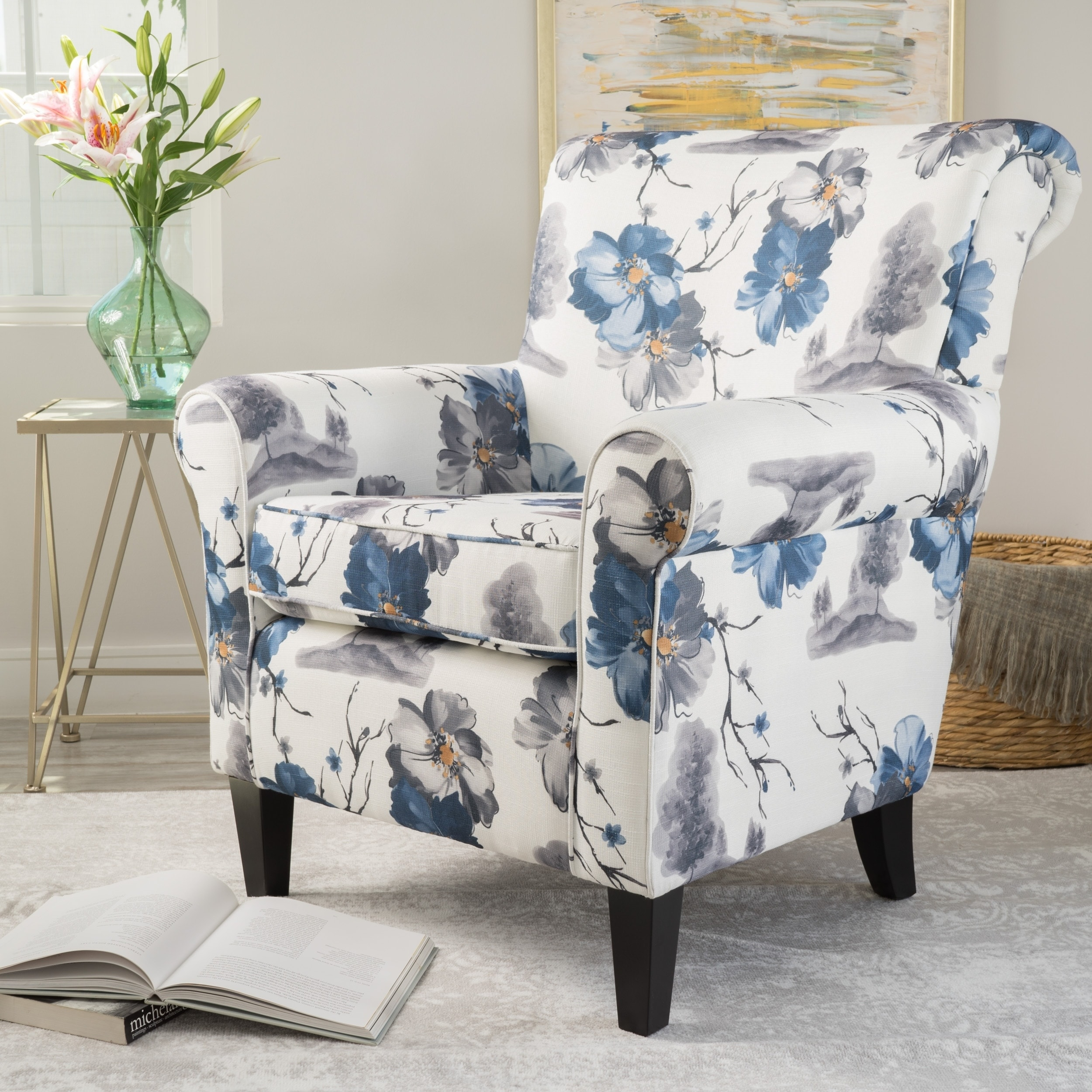 Great Shop Roseville Fabric Floral Club Chair By Christopher Knight Home   Free  Shipping Today   Overstock.com   21347048