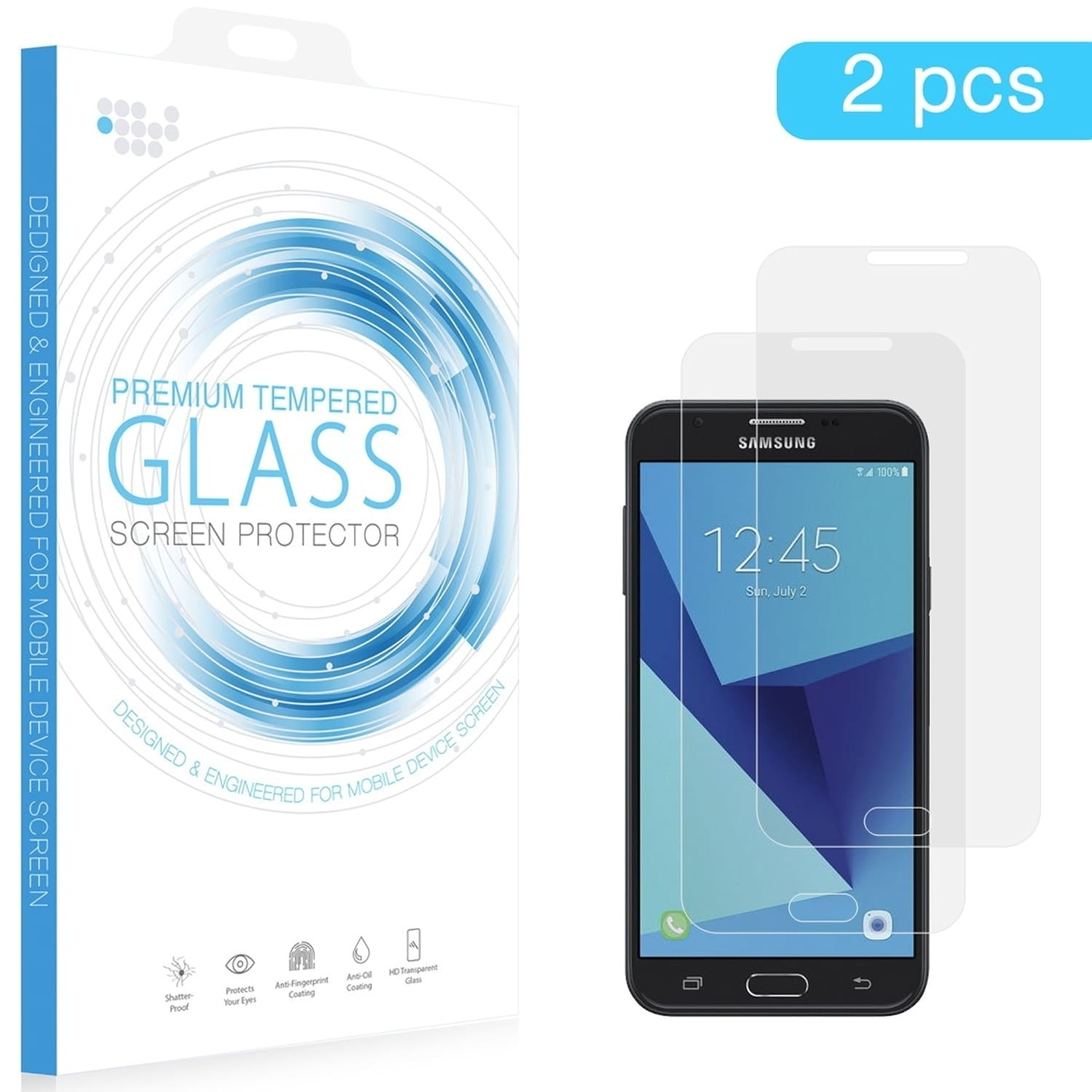 Shop Samsung Galaxy J3 Achieve (J3 Top) Tempered Glass Screen Protector - Free Shipping
