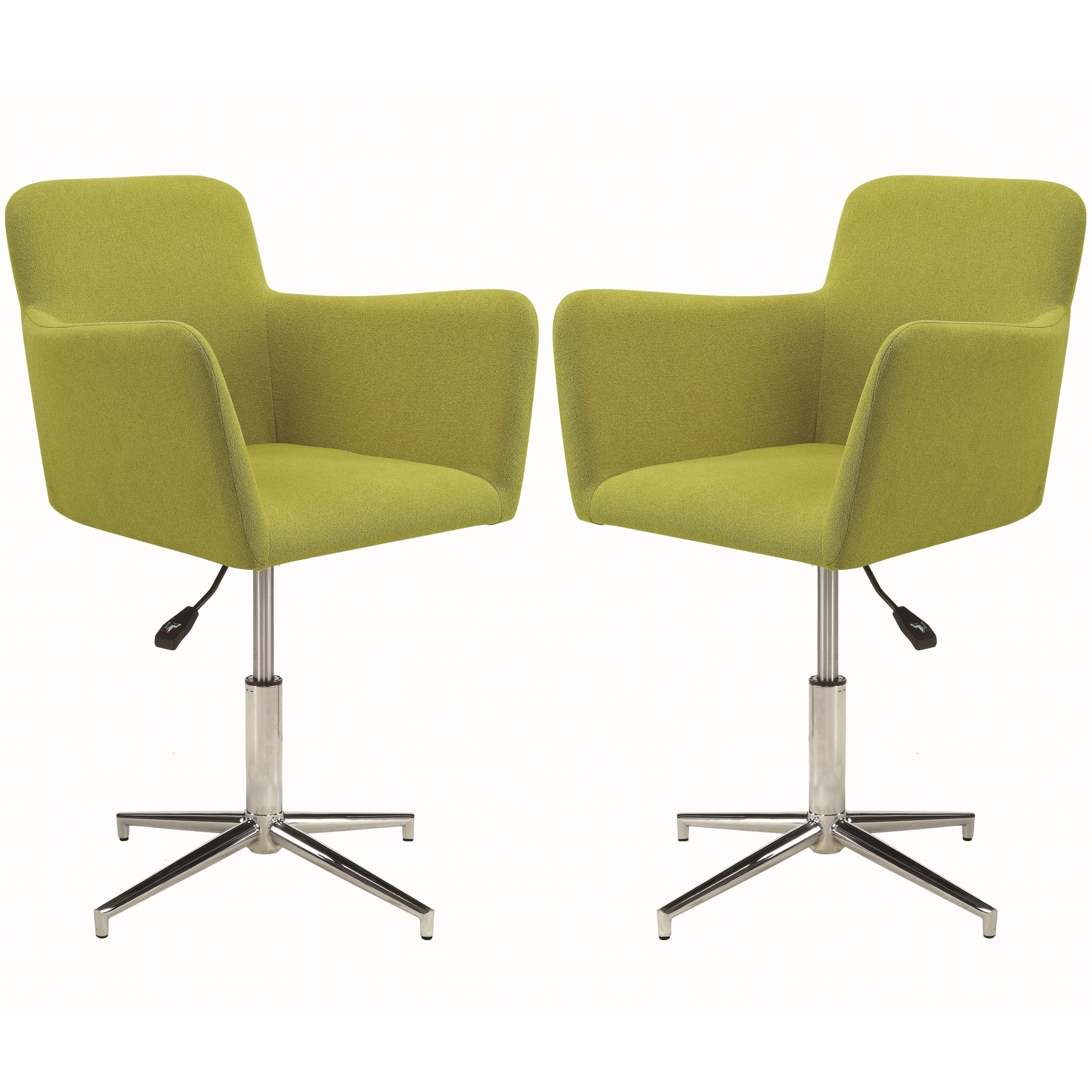 Attirant Shop Casual Retro Style Adjustable Height Green Dining Arm Chairs (Set Of  2)   Free Shipping Today   Overstock   21369090