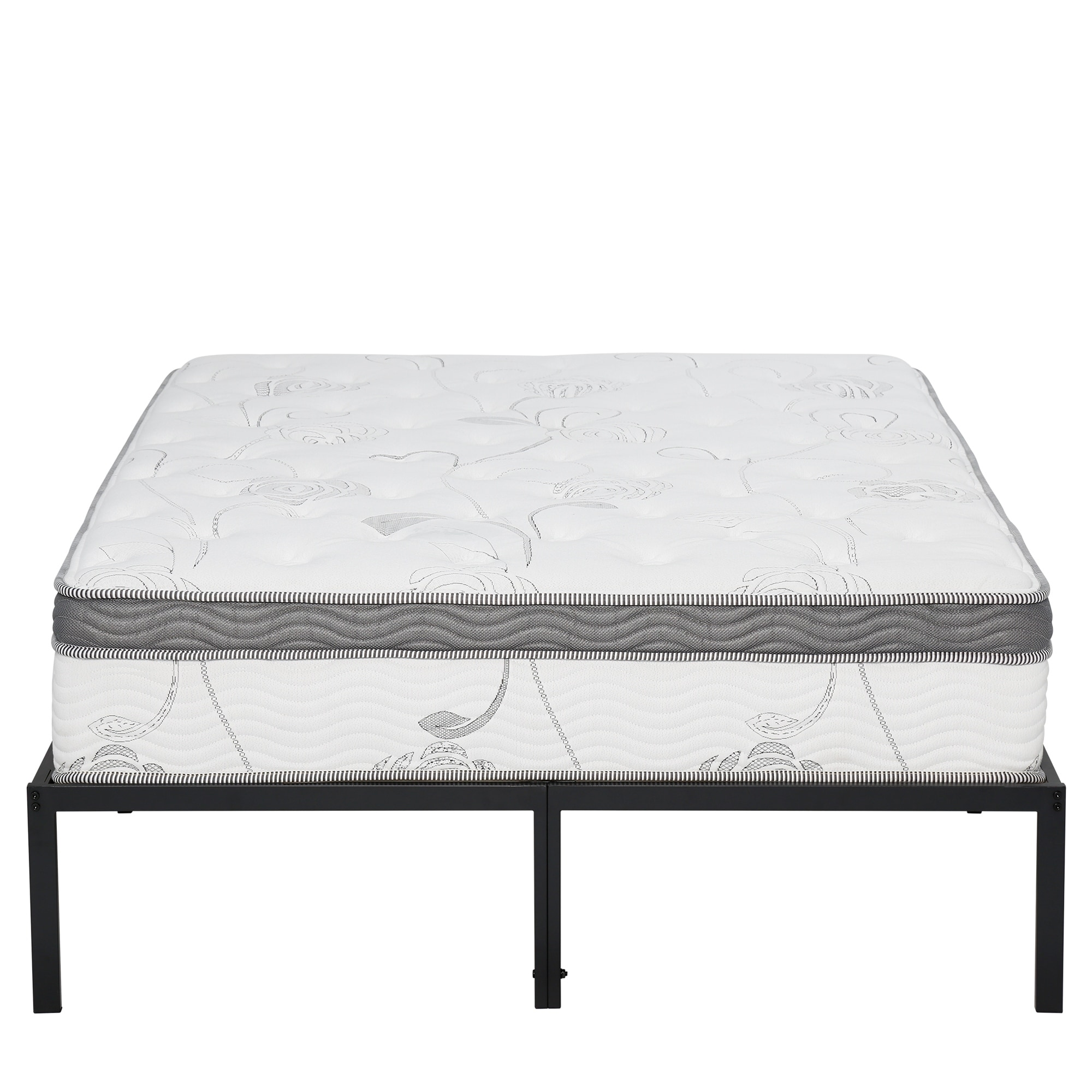 Shop Sleeplanner 14 Inch Platform Easy Assembly Steel Bed Frame with ...