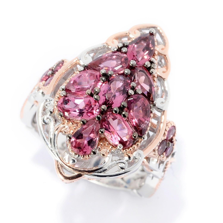 Shop Michael Valitutti Palladium Silver Multi Shape Pink Tourmanlie ...