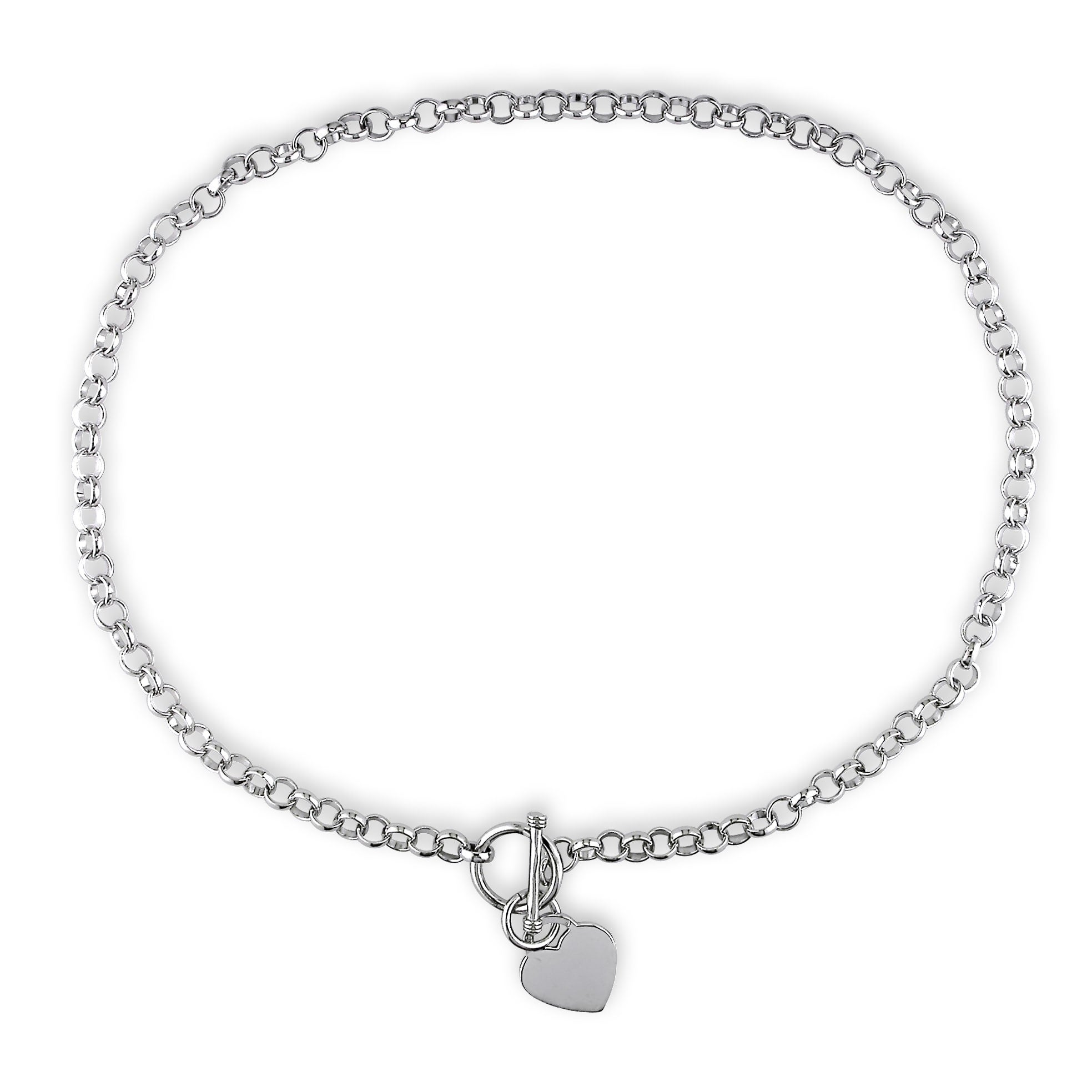 f7c9b4bcc54 Shop Miadora Sterling Silver Linked-Heart Charm Necklace and Bracelet 2-Piece  Set - White - Free Shipping Today - Overstock - 21377187