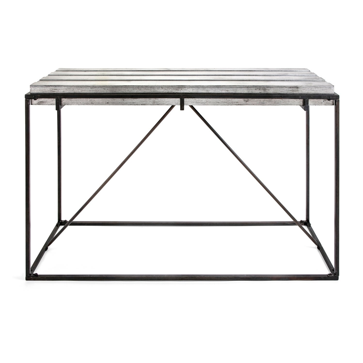 Collins Sleek Black And Metallic Silver Console Table On Free Shipping Today 21378303
