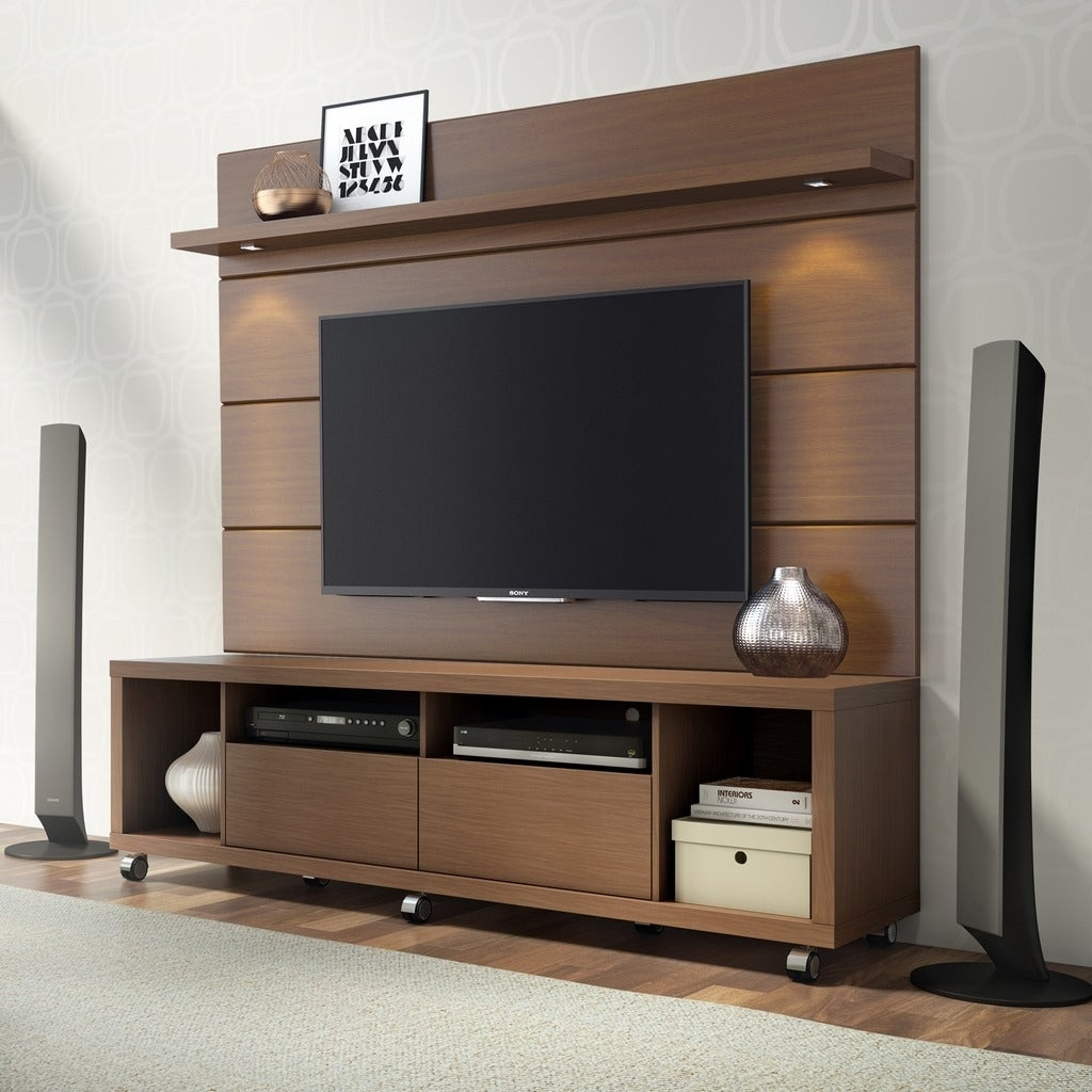 Cabrini TV Stand and Floating Wall LED TV Panel 1 8
