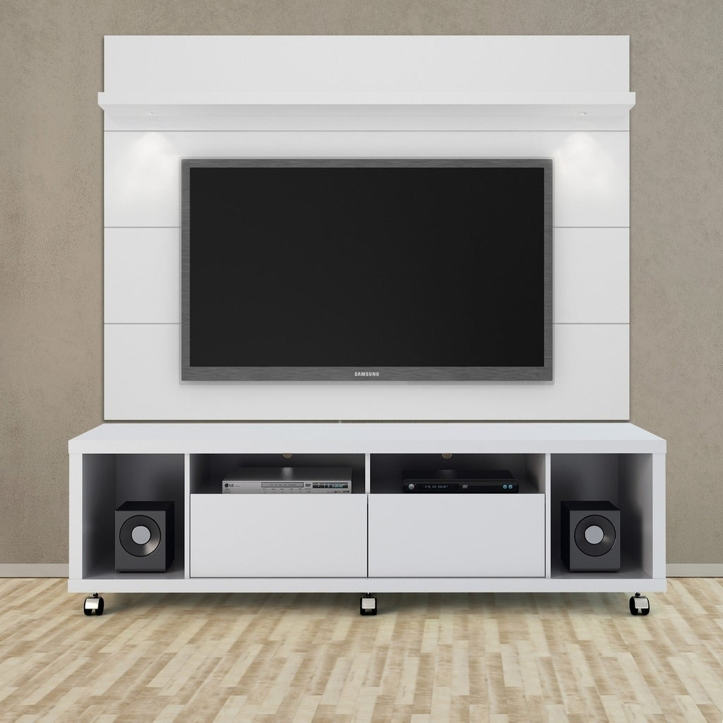 Cabrini Tv Stand And Floating Wall Led Panel 1 8 Free Shipping Today 21382004