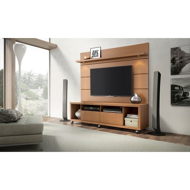 Shop Cabrini TV Stand And Floating Wall LED TV Panel 1.8   Free Shipping  Today   Overstock.com   21382004