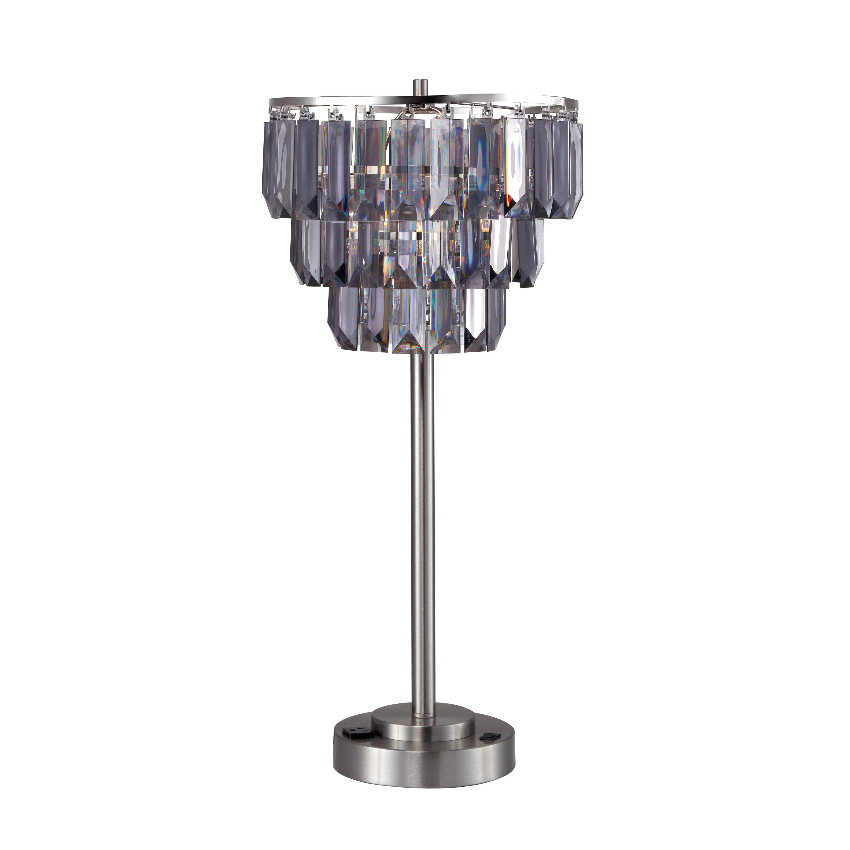 Shop Furniture Of America Letty Contemporary Tiered Crystal Table