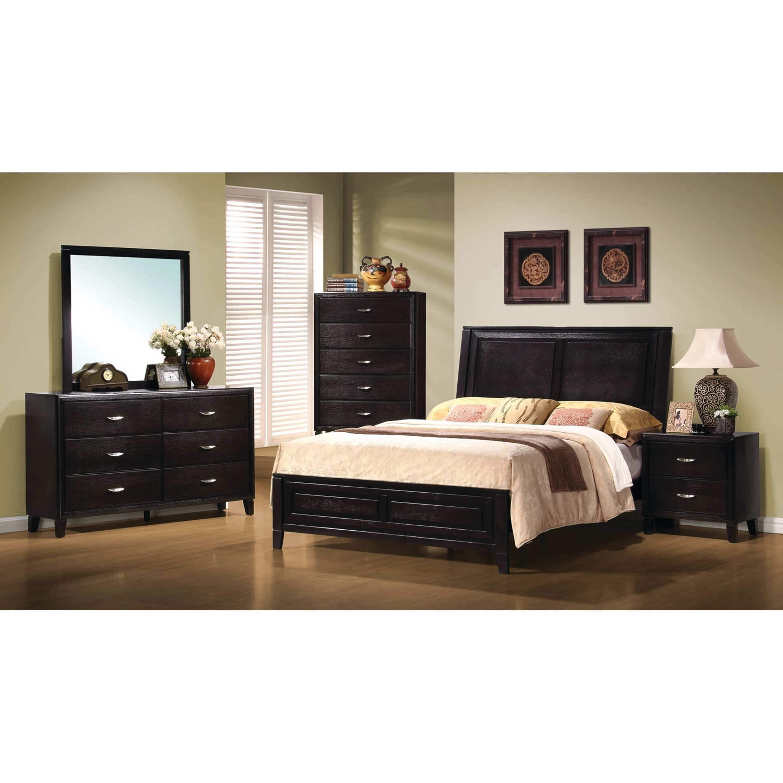 Shop Nacey Dark Brown 5-piece Bedroom Set - Free Shipping Today ...
