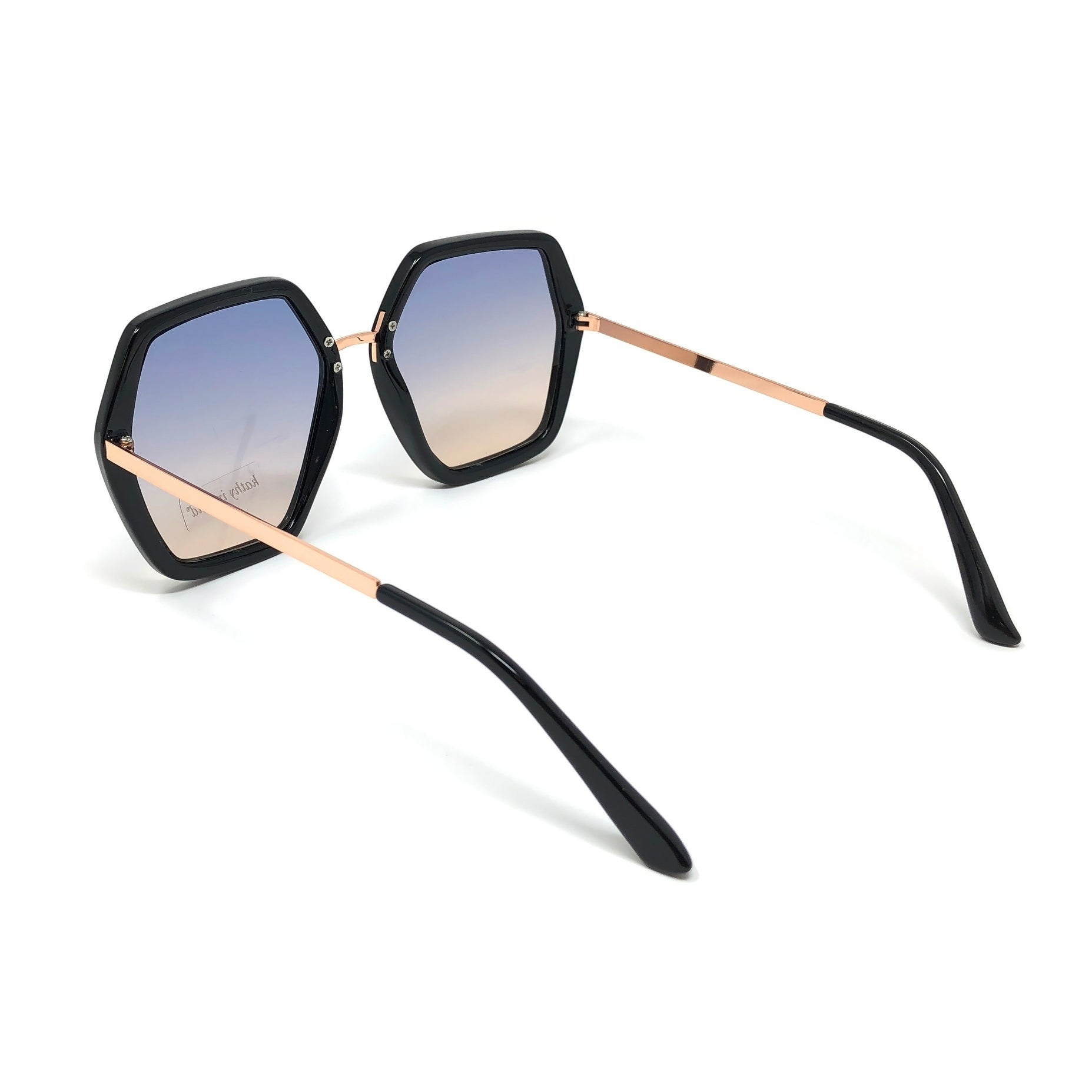 2ecedab11db Shop Kathy Ireland Women s Geometric Black frame with Rose Gold Sunglasses  - Free Shipping On Orders Over  45 - Overstock - 21424058
