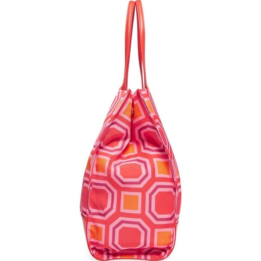 58acdc56b361 Shop Tory Burch Ella Octagon Print Nylon Pink Tote - M - Free Shipping  Today - Overstock - 21427882