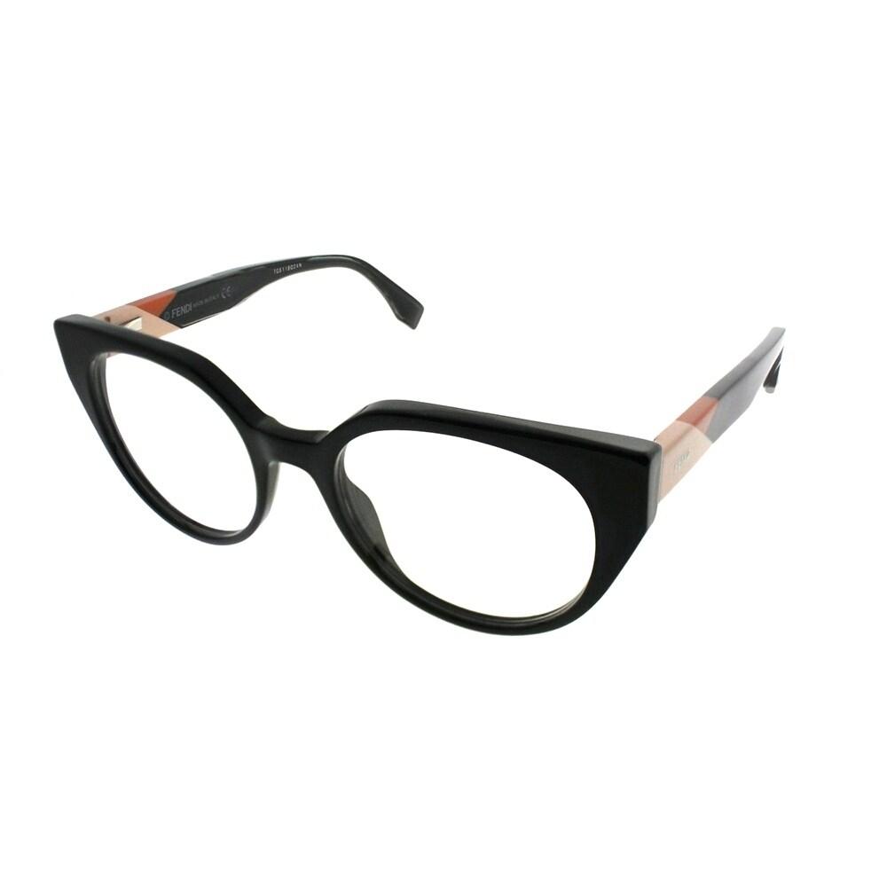 69161af79cb Shop Fendi Cat-Eye FF 0160 Fendi Facets 807 Women Black Frame Eyeglasses -  On Sale - Ships To Canada - Overstock.ca - 21443723