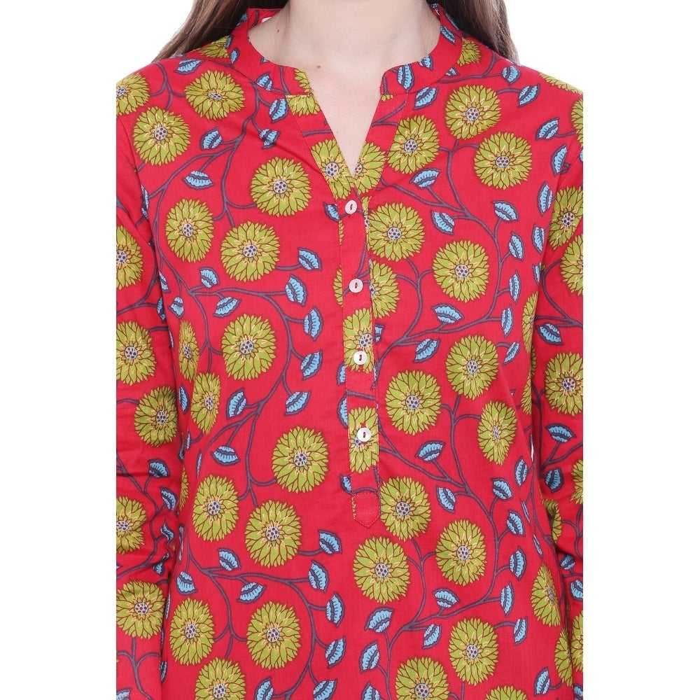 dc78703cdf2 Shop In-Sattva Women s Indian Summer Collection Classic Printed Kurta Tunic  - Free Shipping On Orders Over  45 - Overstock - 21450059
