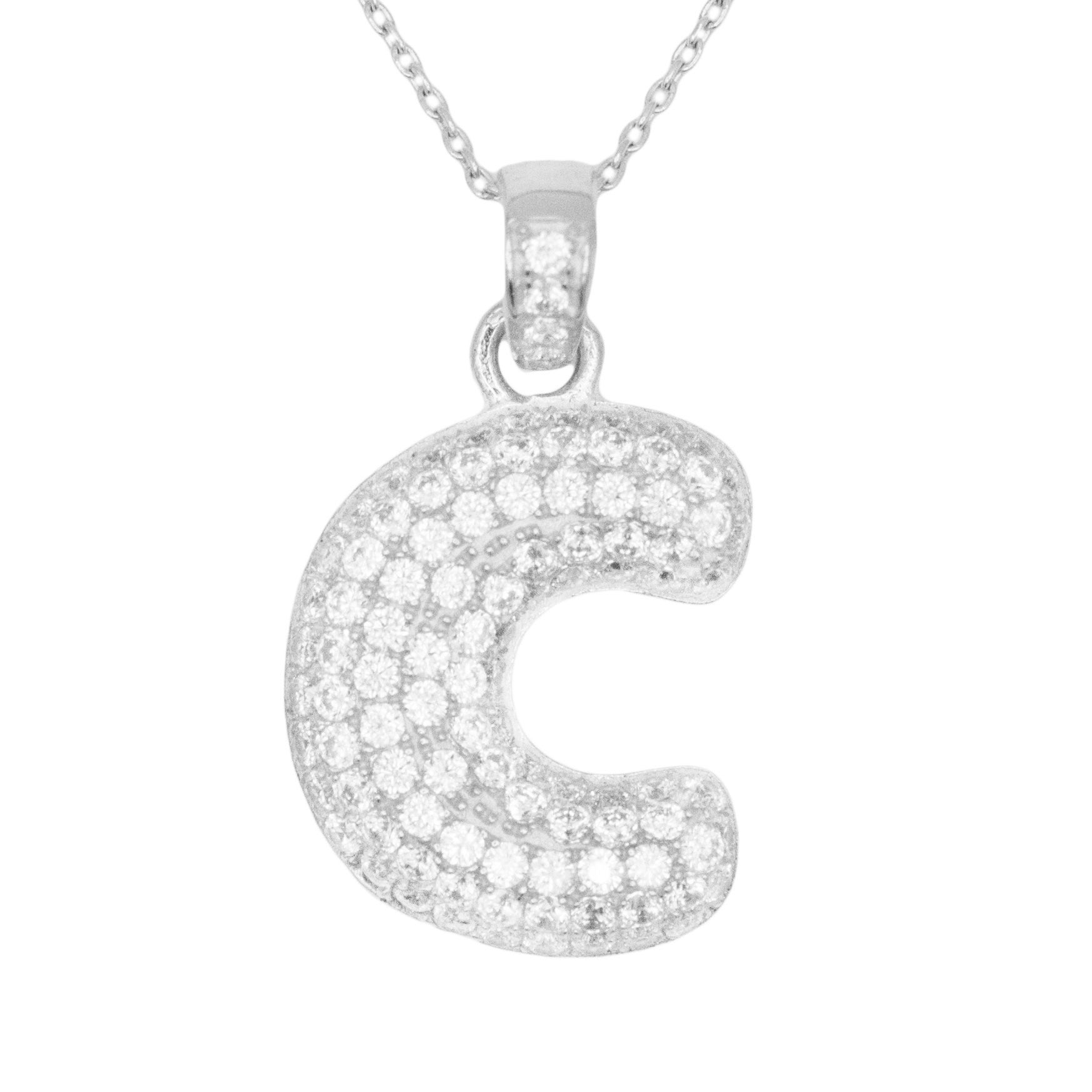 Shop 14k Gold Large 3d Letter C Initial With Micro Pave Cubic
